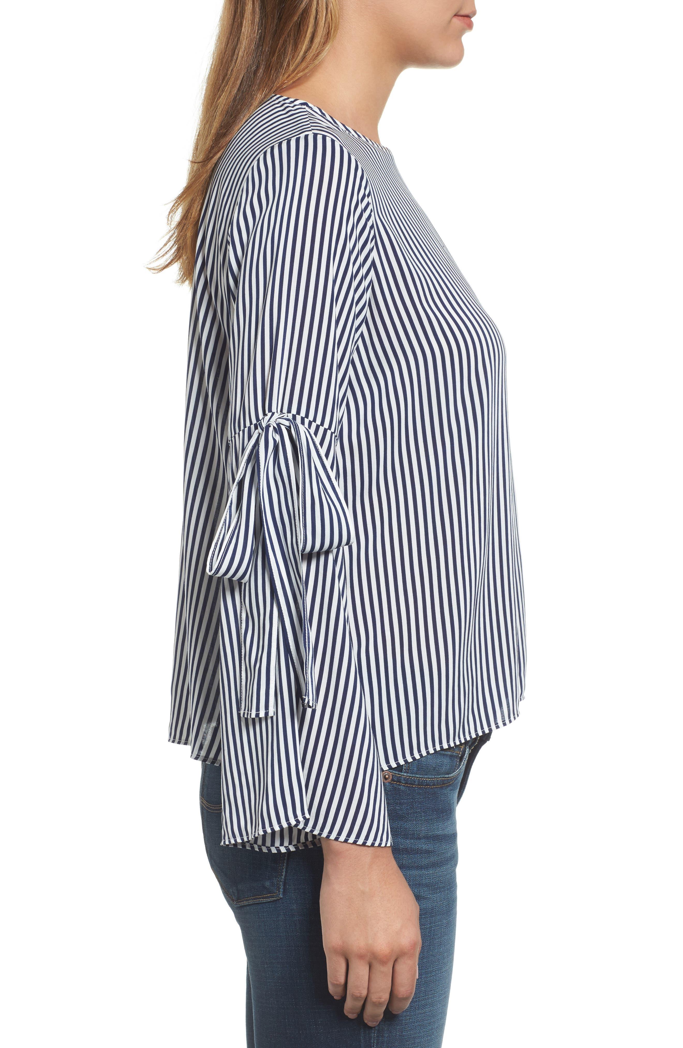 Alternate Image 4  - Velvet by Graham & Spencer Stripe Tie Bell Sleeve Blouse