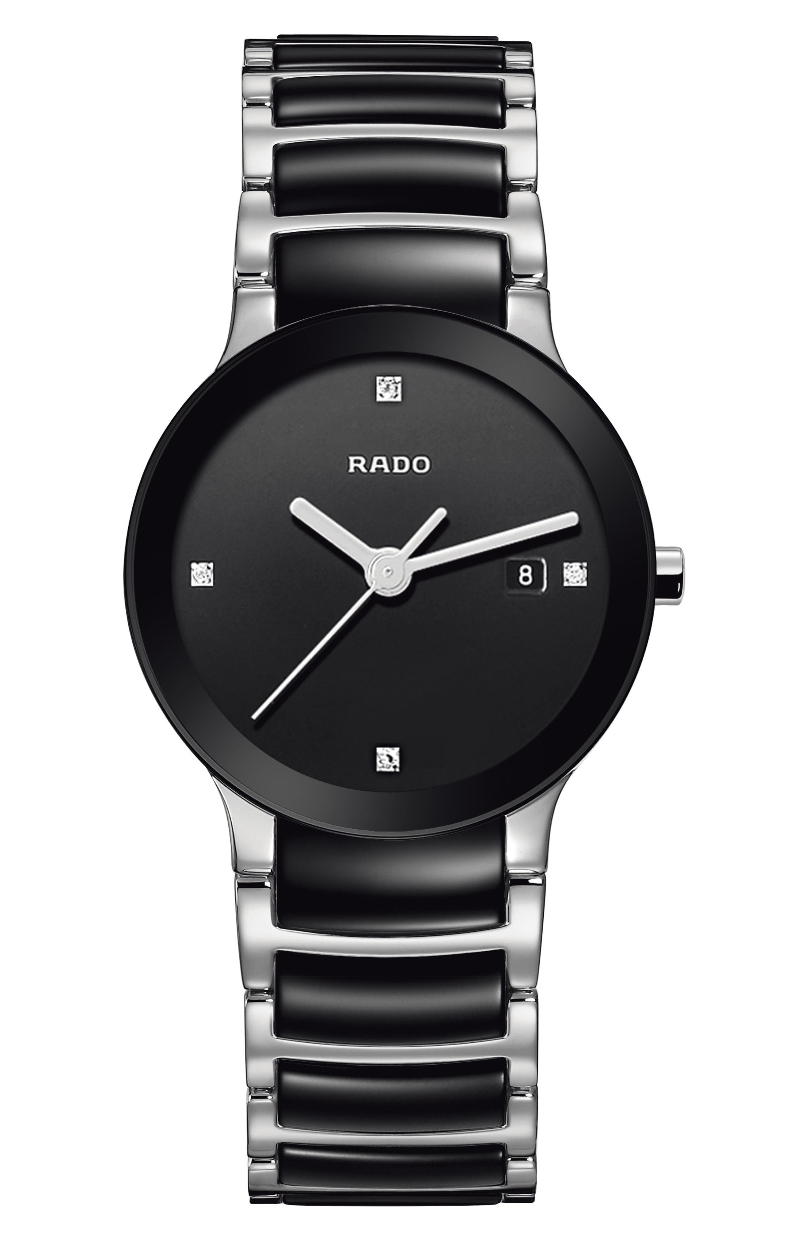 RADO Centrix Diamond Bracelet Watch, 28mm