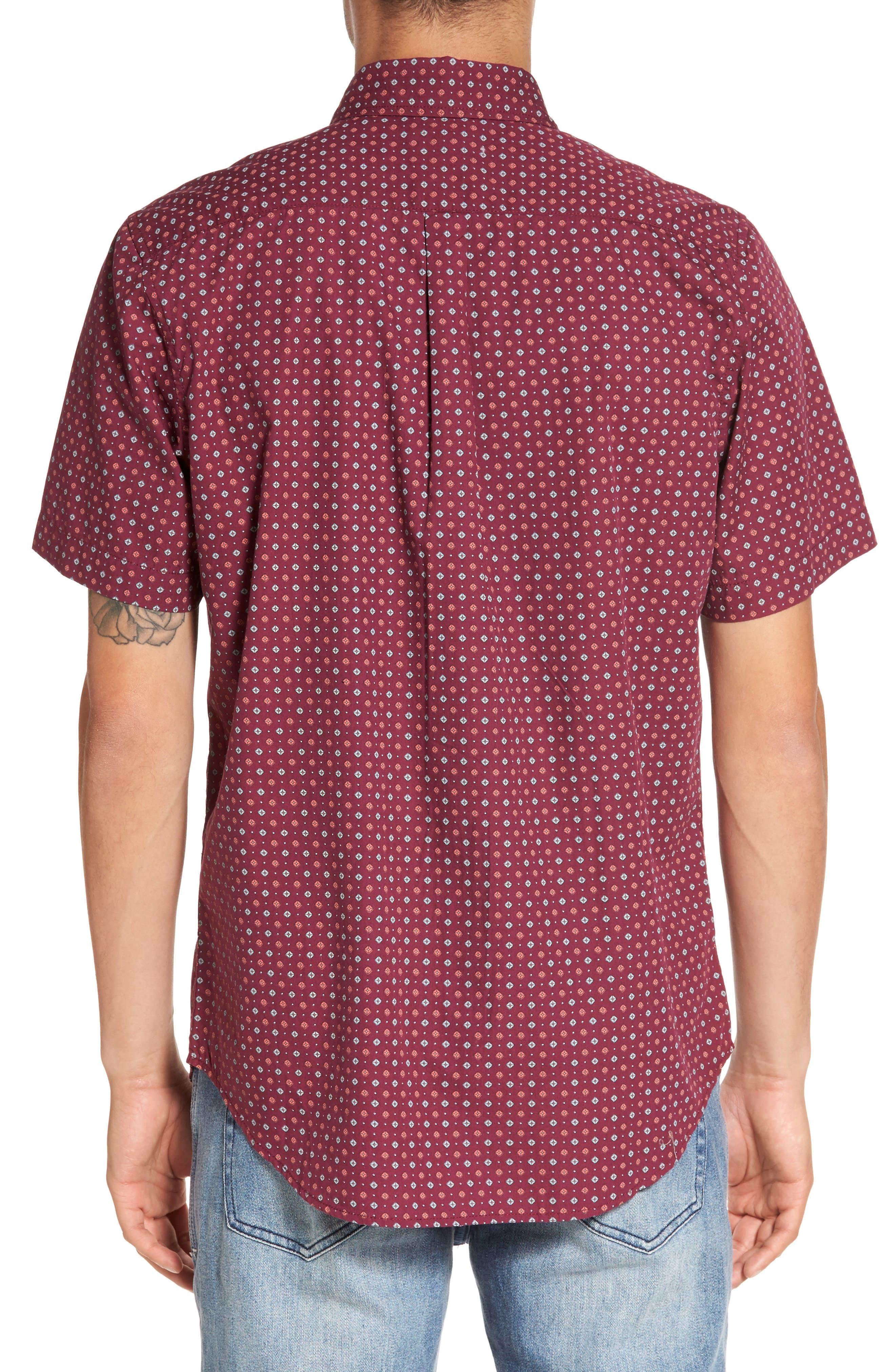 Sterling Woven Shirt,                             Alternate thumbnail 2, color,                             Raspberry Multi