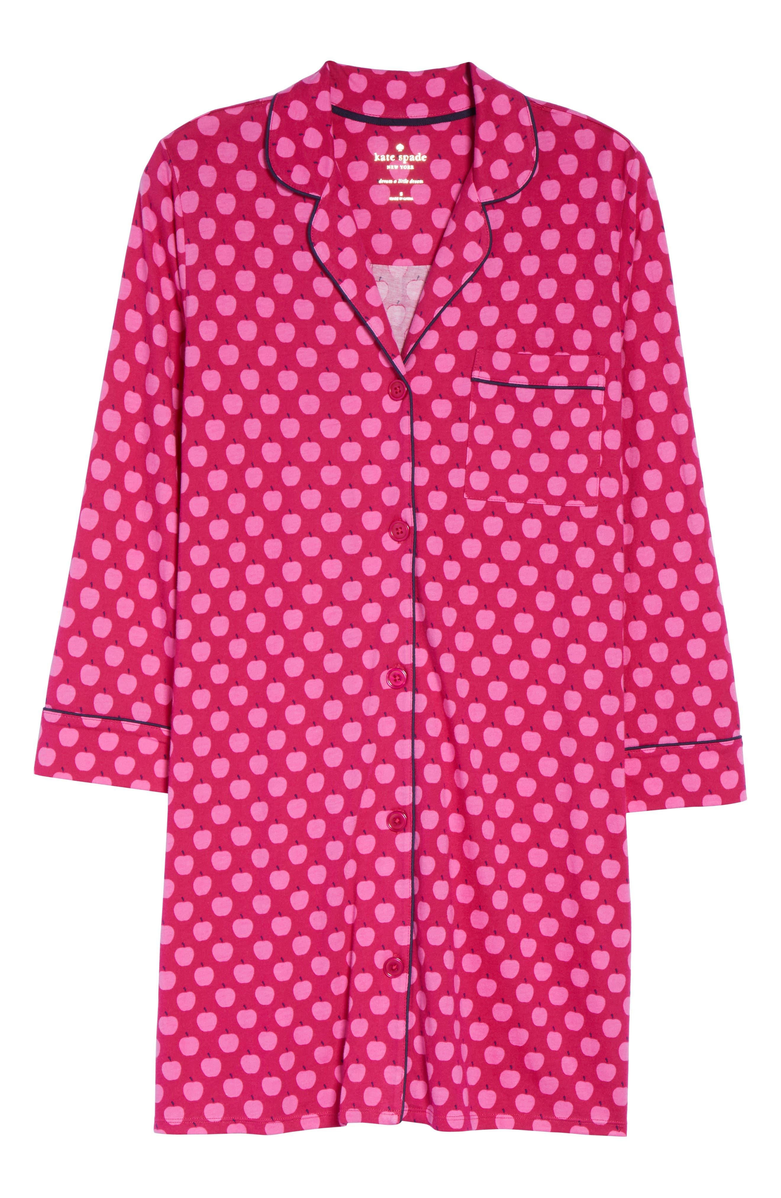 print sleep shirt,                             Alternate thumbnail 4, color,                             Pink