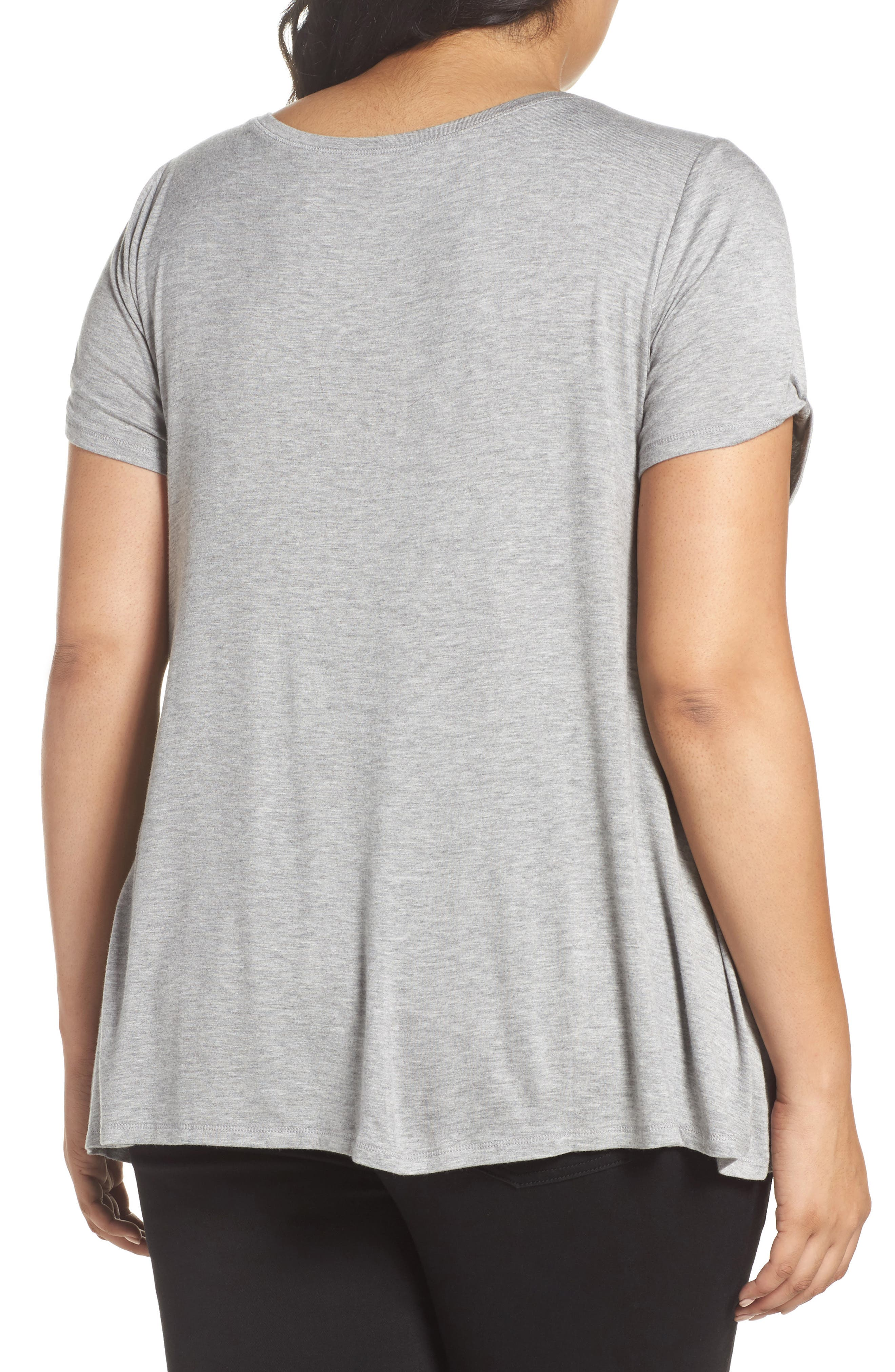 Graphic Swing Tee,                             Alternate thumbnail 2, color,                             Light Heather Grey