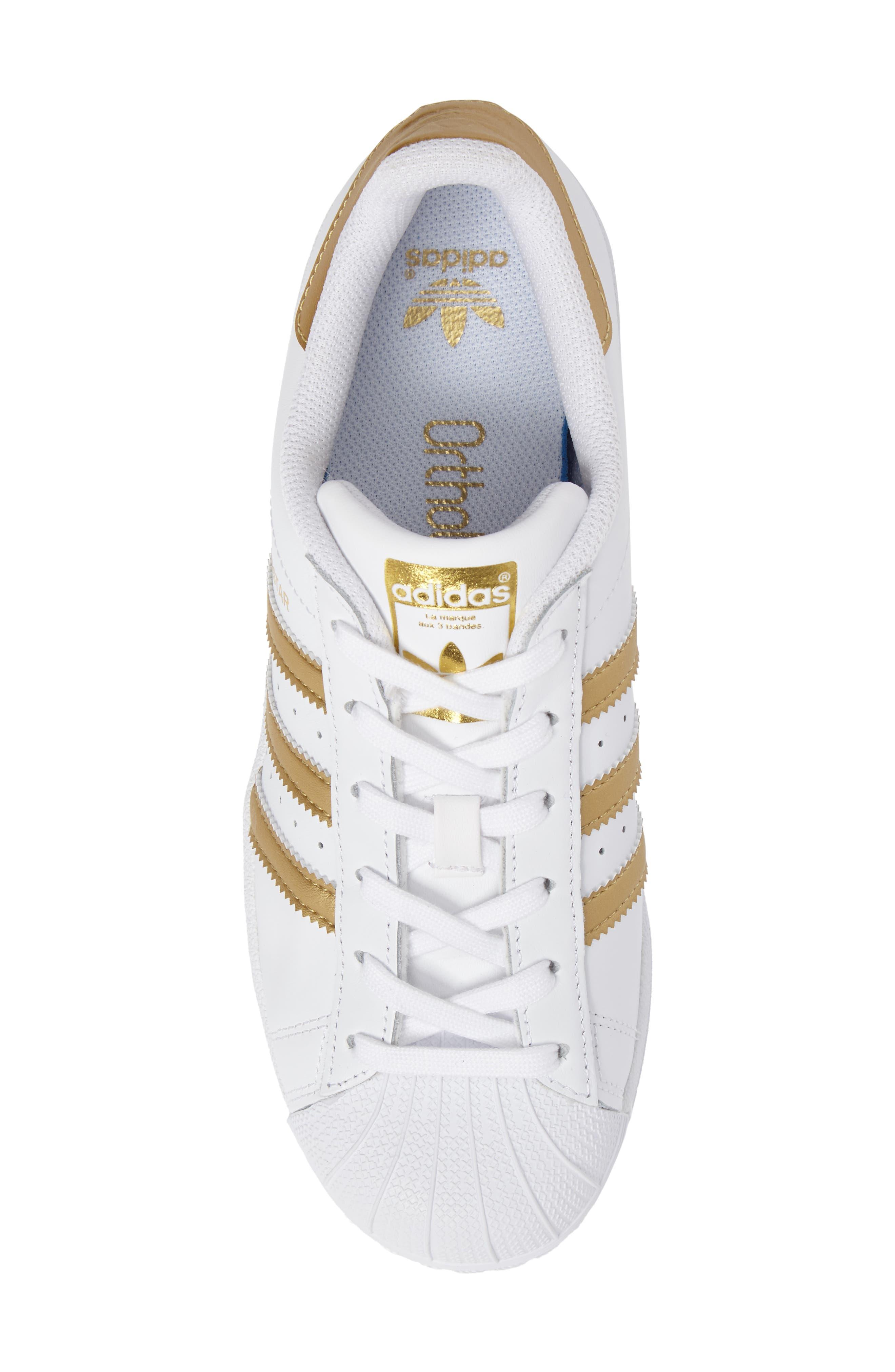 Alternate Image 5  - adidas Superstar J Sneaker (Big Kid)