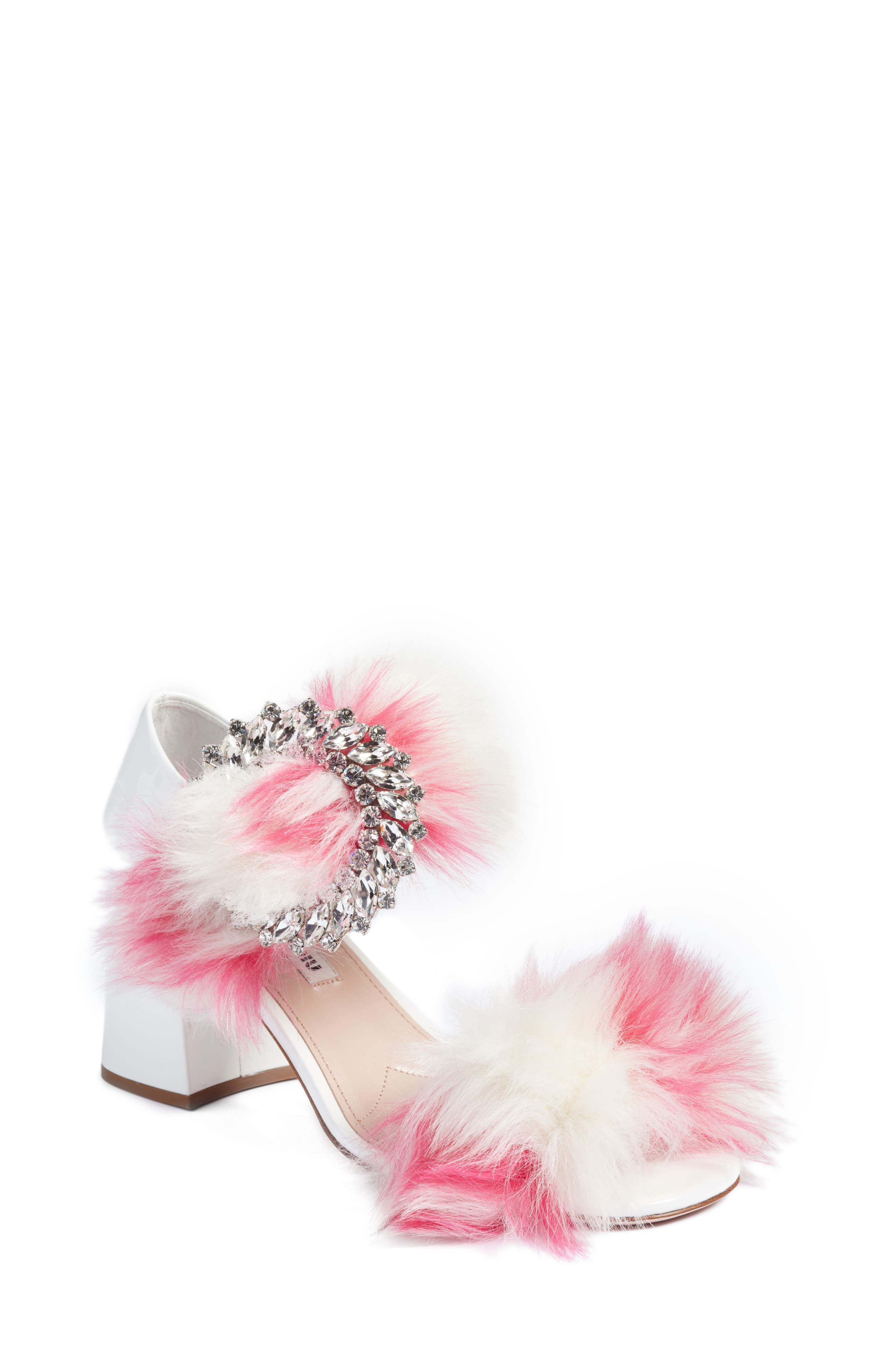 Miu Miu Feather Buckle Sandal (Women)