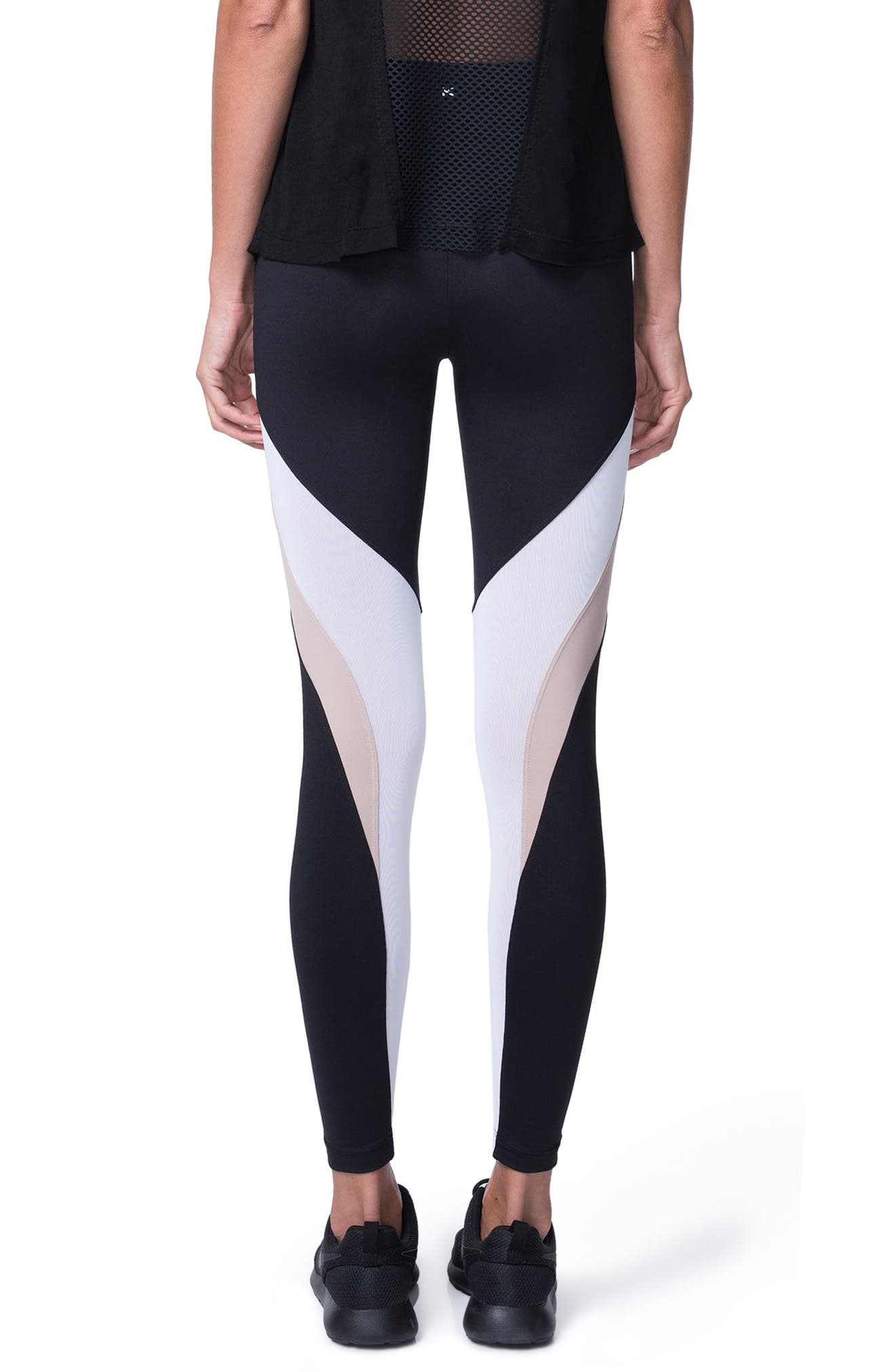 Frame Leggings,                             Alternate thumbnail 2, color,                             Bisque/ Black