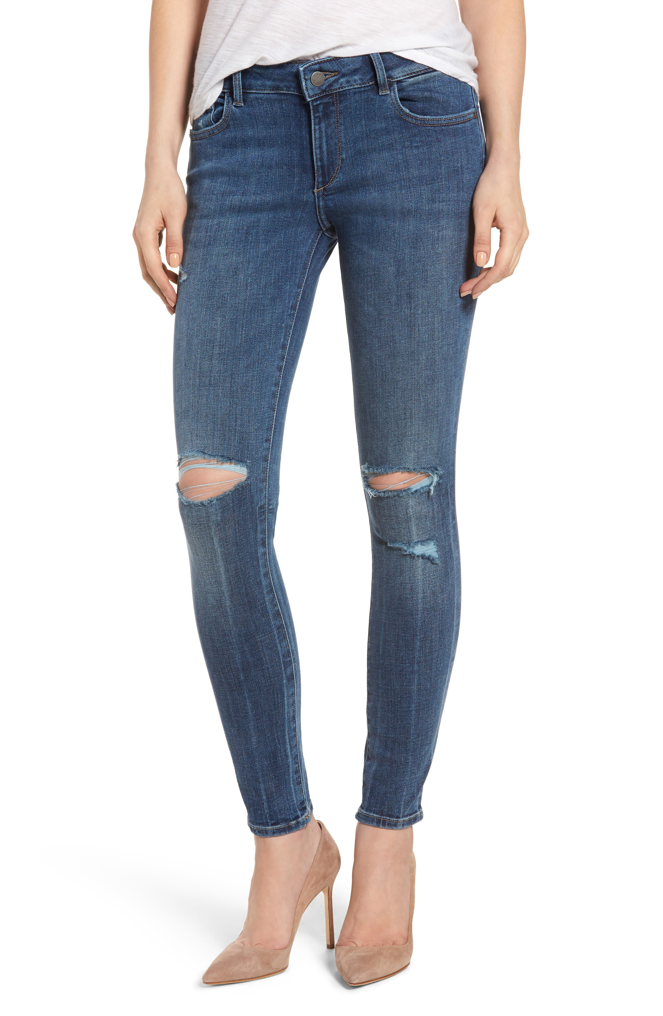 DL1961 Emma Ripped Power Legging Jeans (Pima)