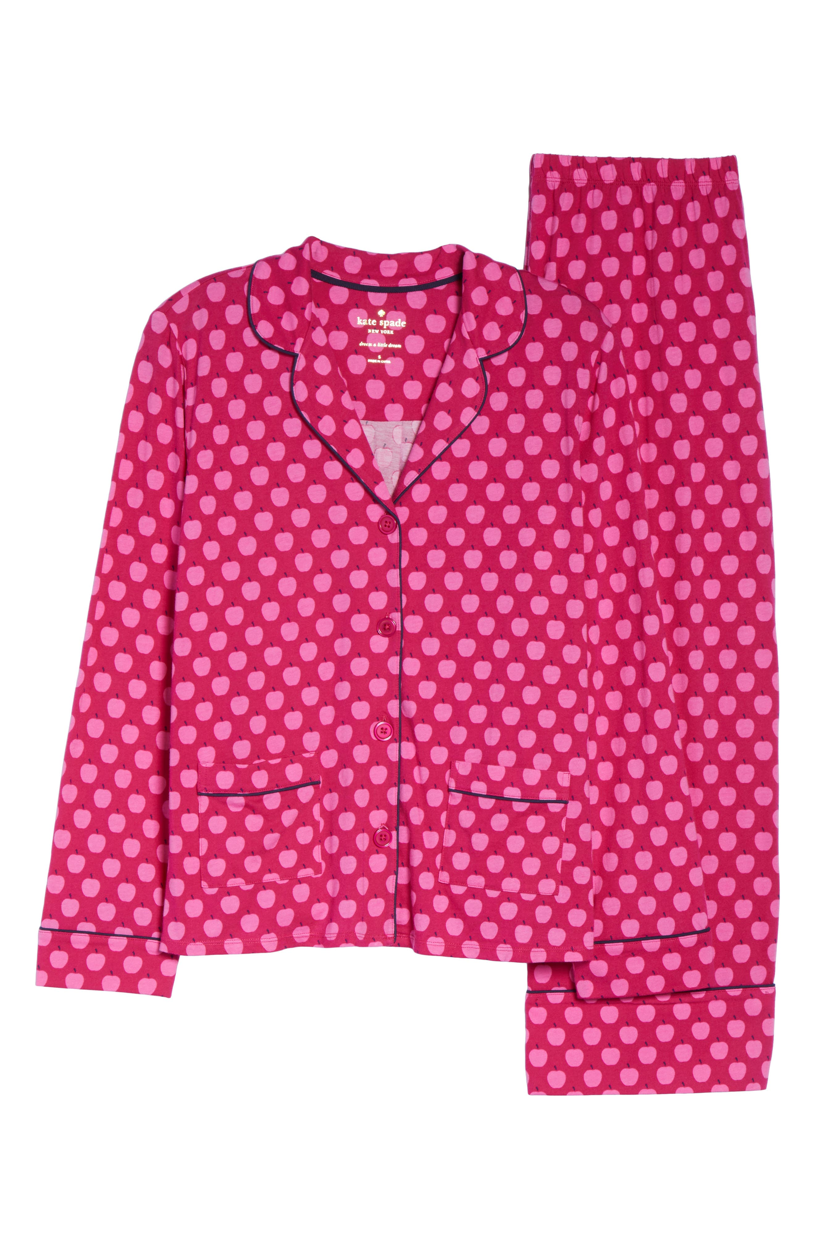 crop pajamas,                             Alternate thumbnail 4, color,                             Pink