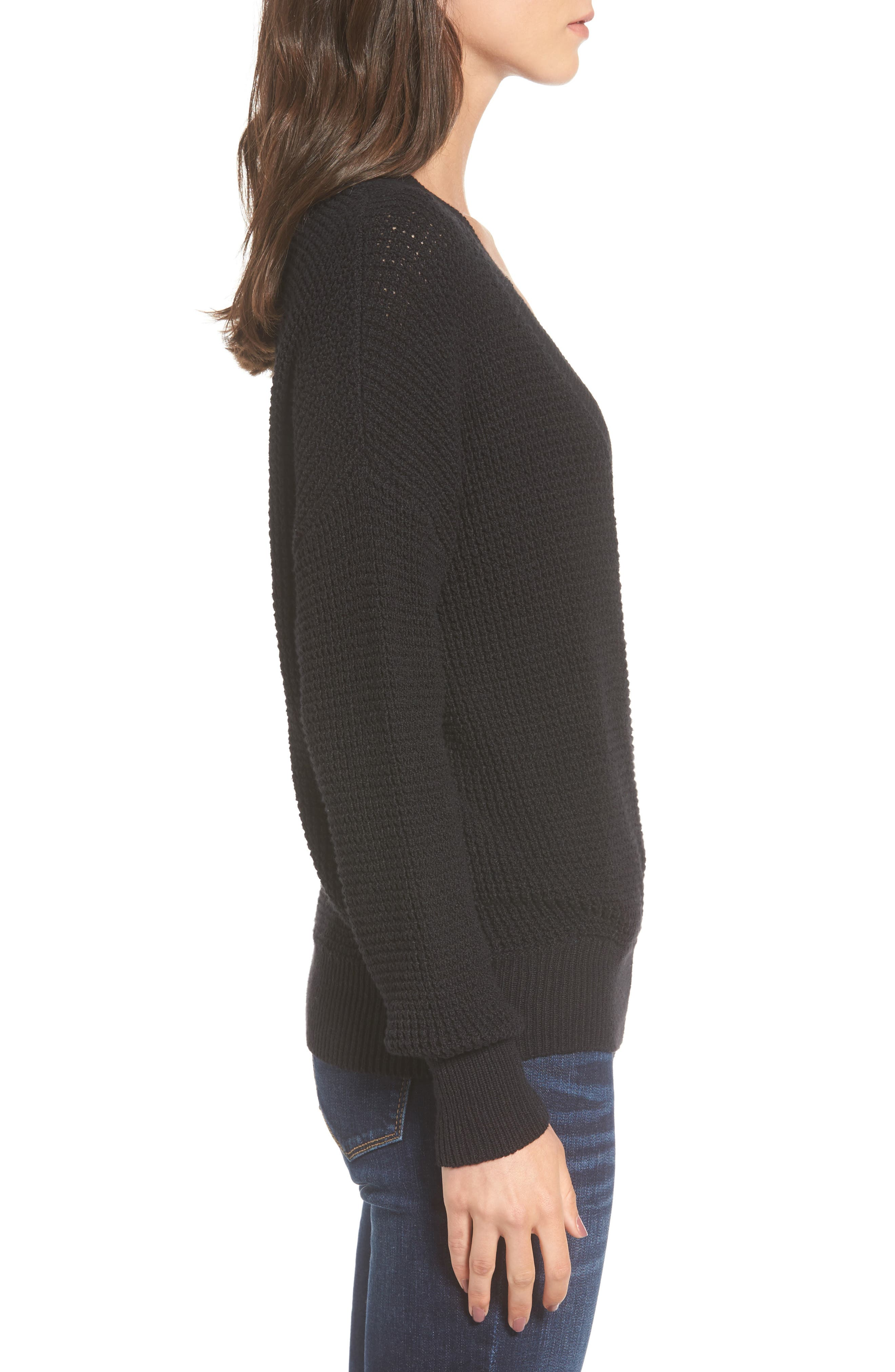 Alternate Image 5  - ASTR the Label Stephanie Surplice Sweater