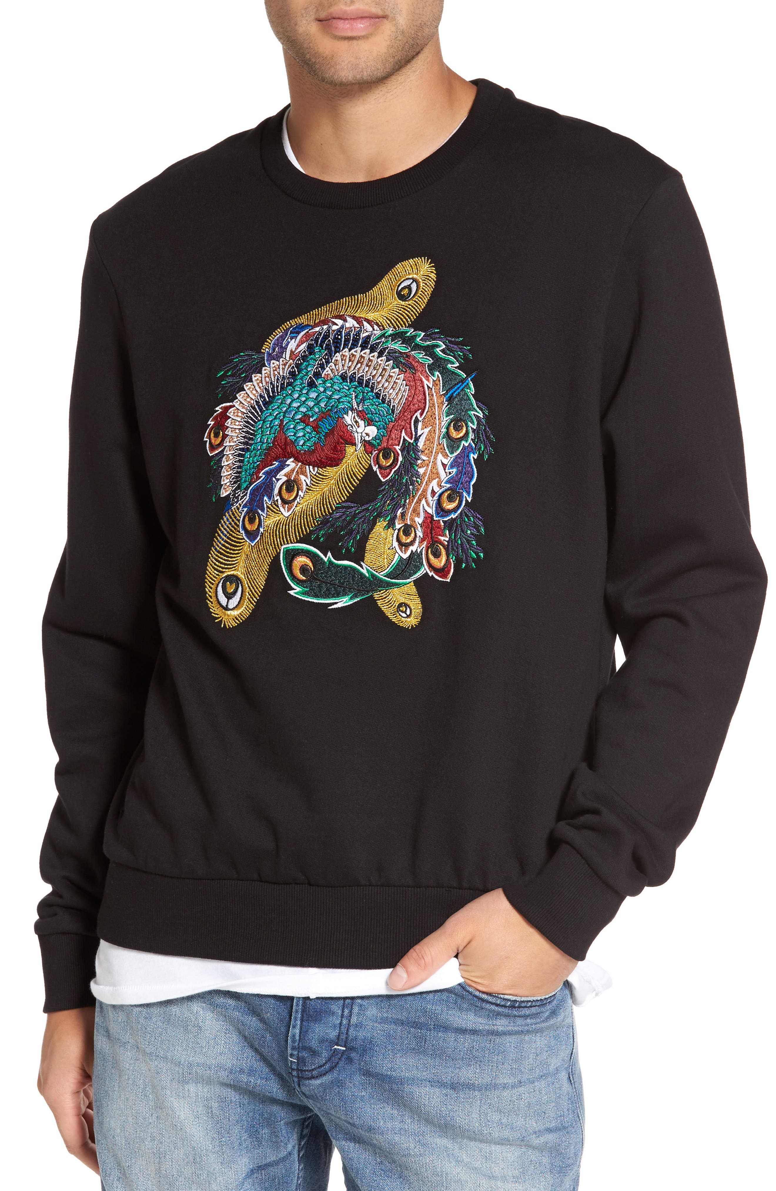 Main Image - ELEVENPARIS Nolan Embroidered Sweatshirt
