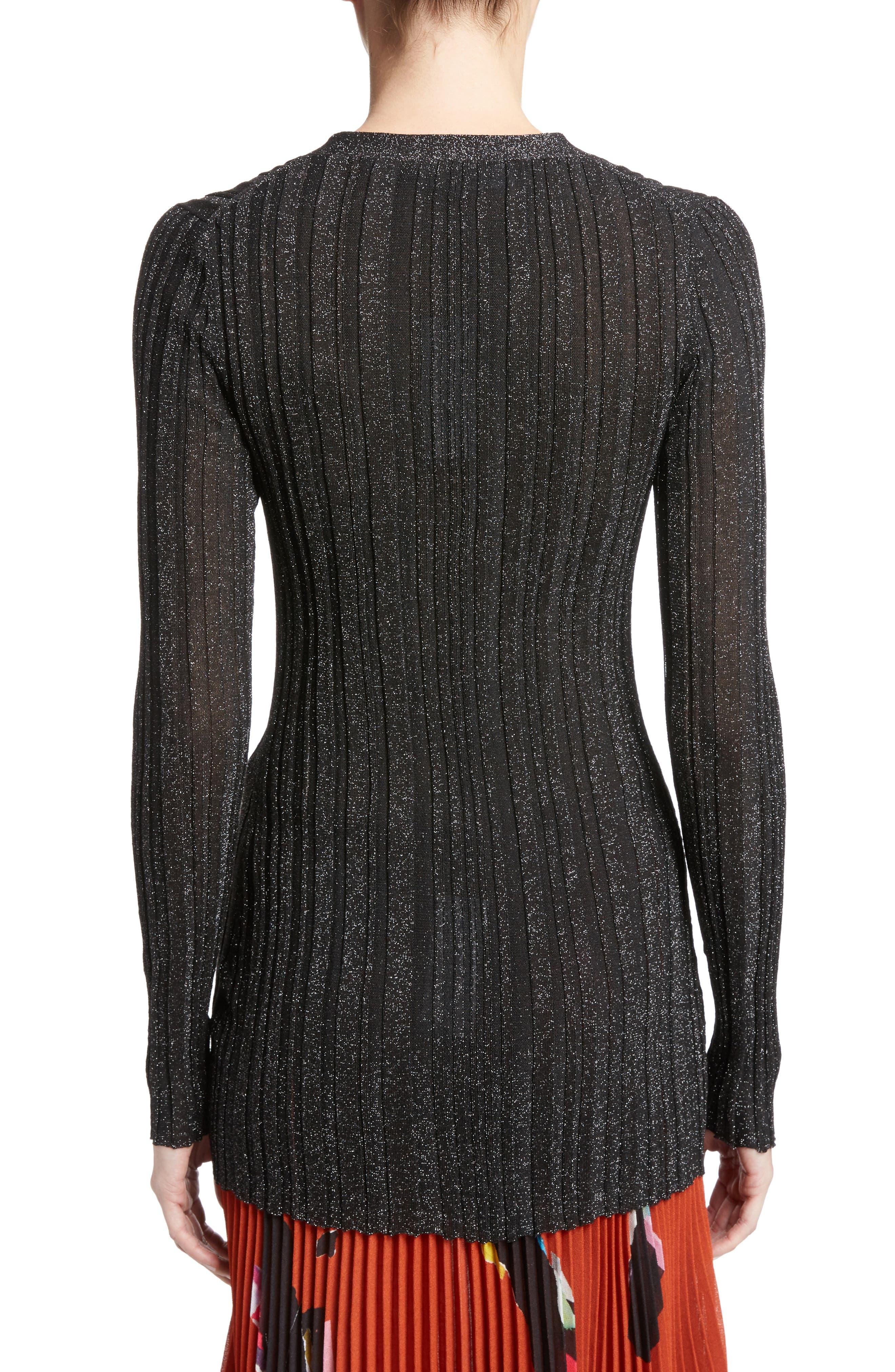 Alternate Image 2  - Proenza Schouler Lurex® Metallic Rib Knit Cardigan