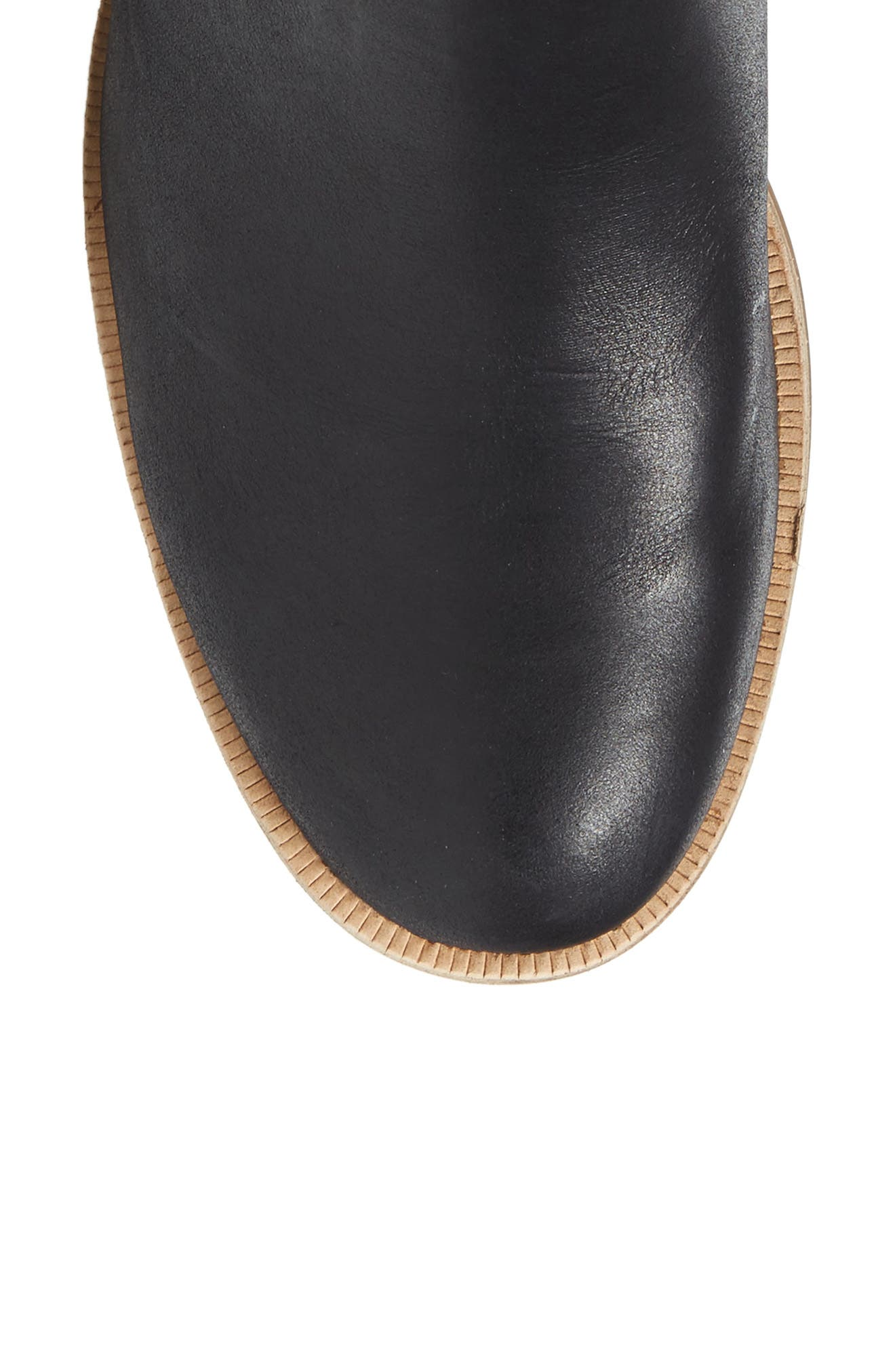 Carlin Tall Boot,                             Alternate thumbnail 5, color,                             Black Leather