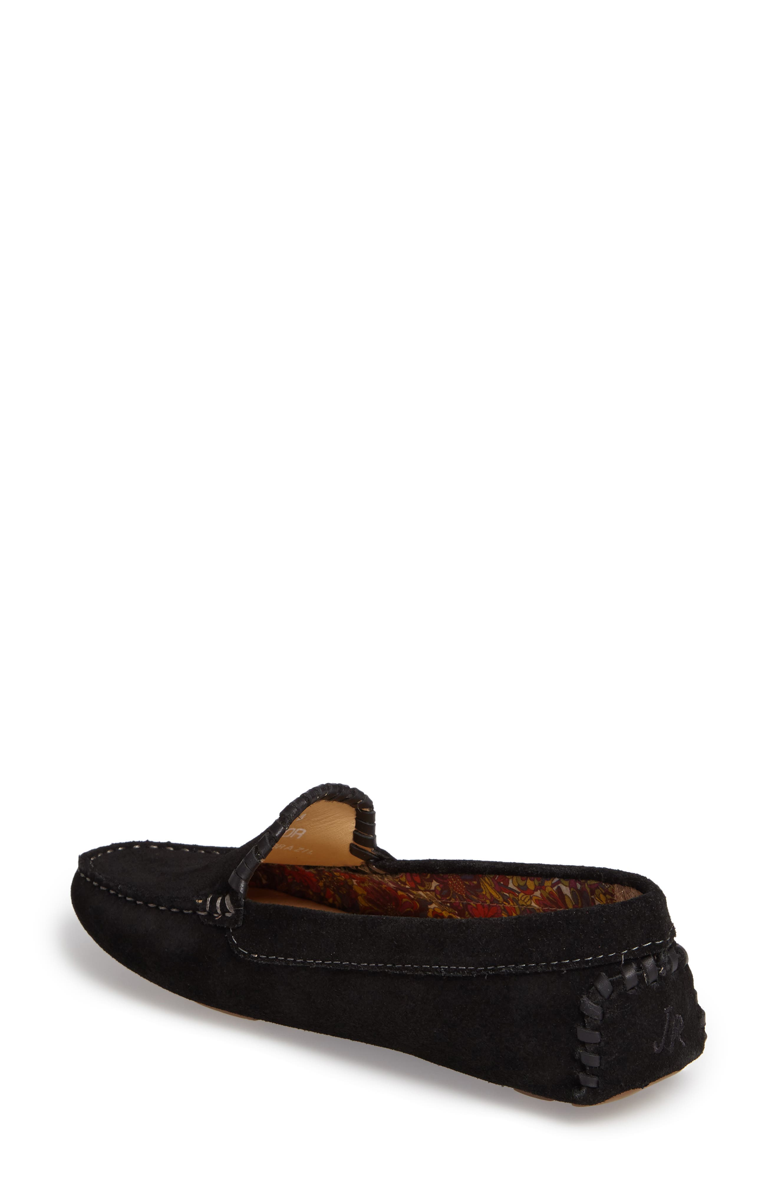 Taylor Driving Loafer,                             Alternate thumbnail 2, color,                             Black Suede