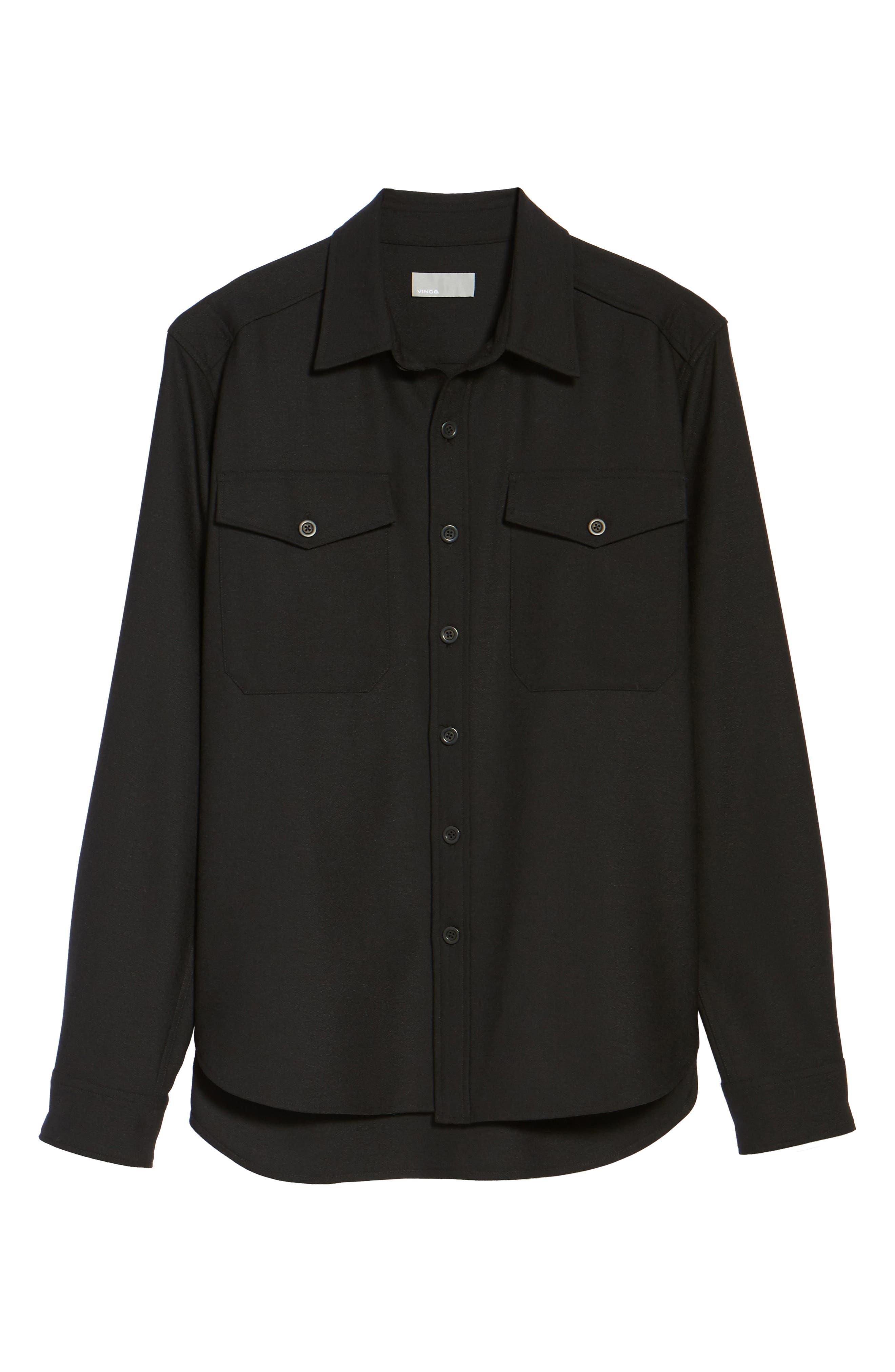 Regular Fit Sport Shirt,                             Alternate thumbnail 5, color,                             Black
