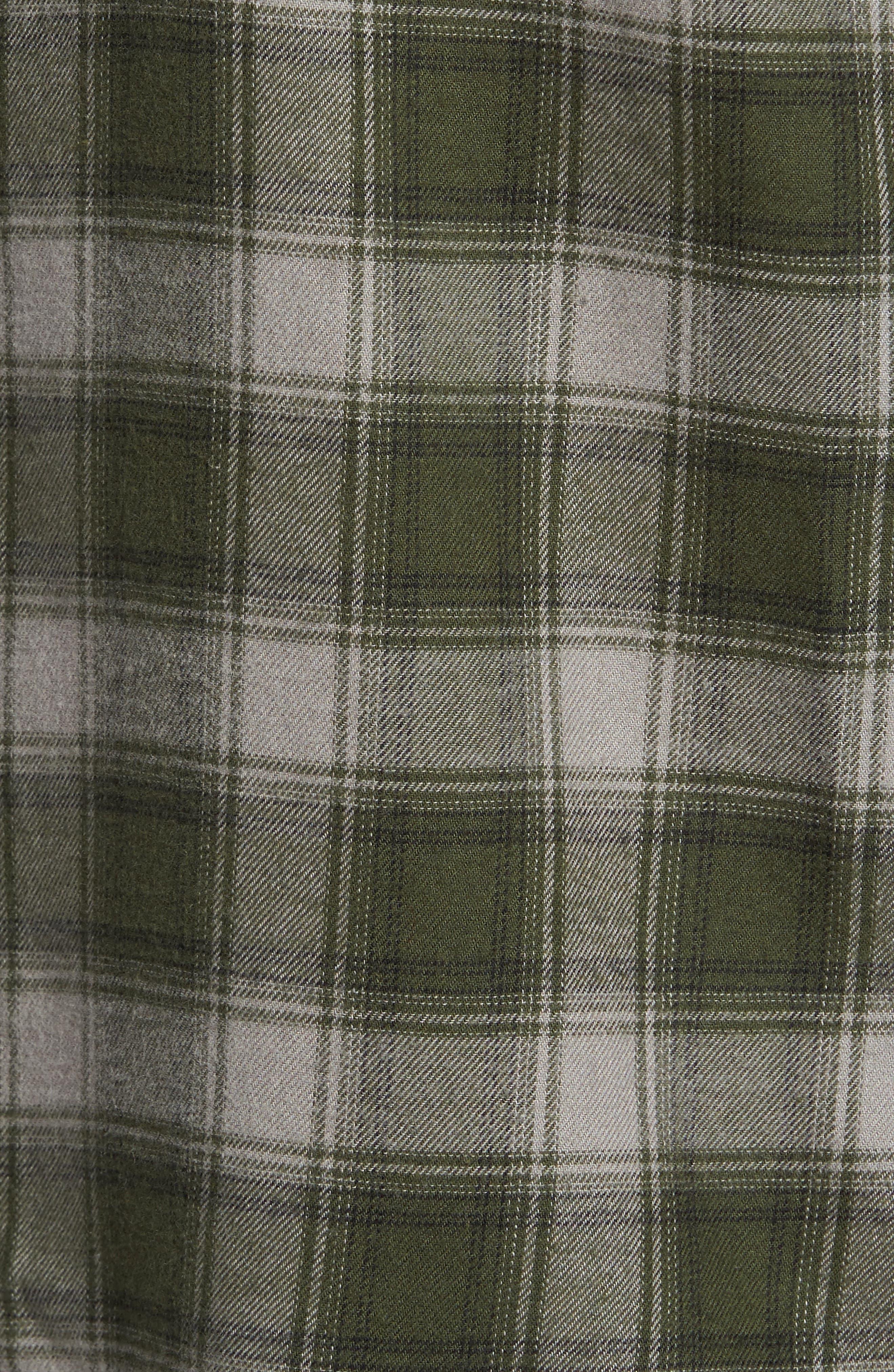 Everett Plaid Sport Shirt,                             Alternate thumbnail 6, color,                             Green Dusk