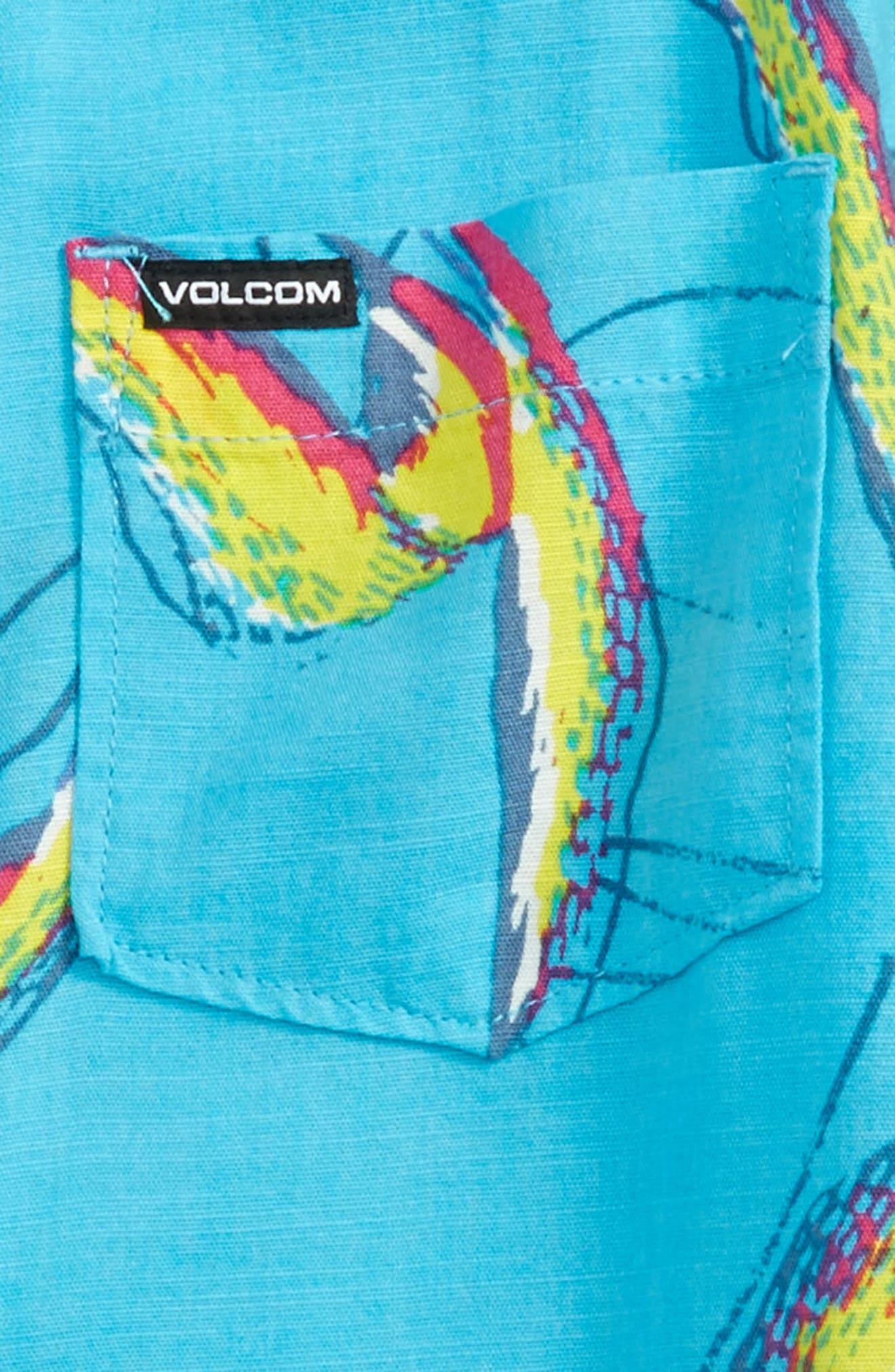 Alternate Image 2  - Volcom Motel Floral Short Sleeve Woven Shirt (Toddler Boys & Little Boys)