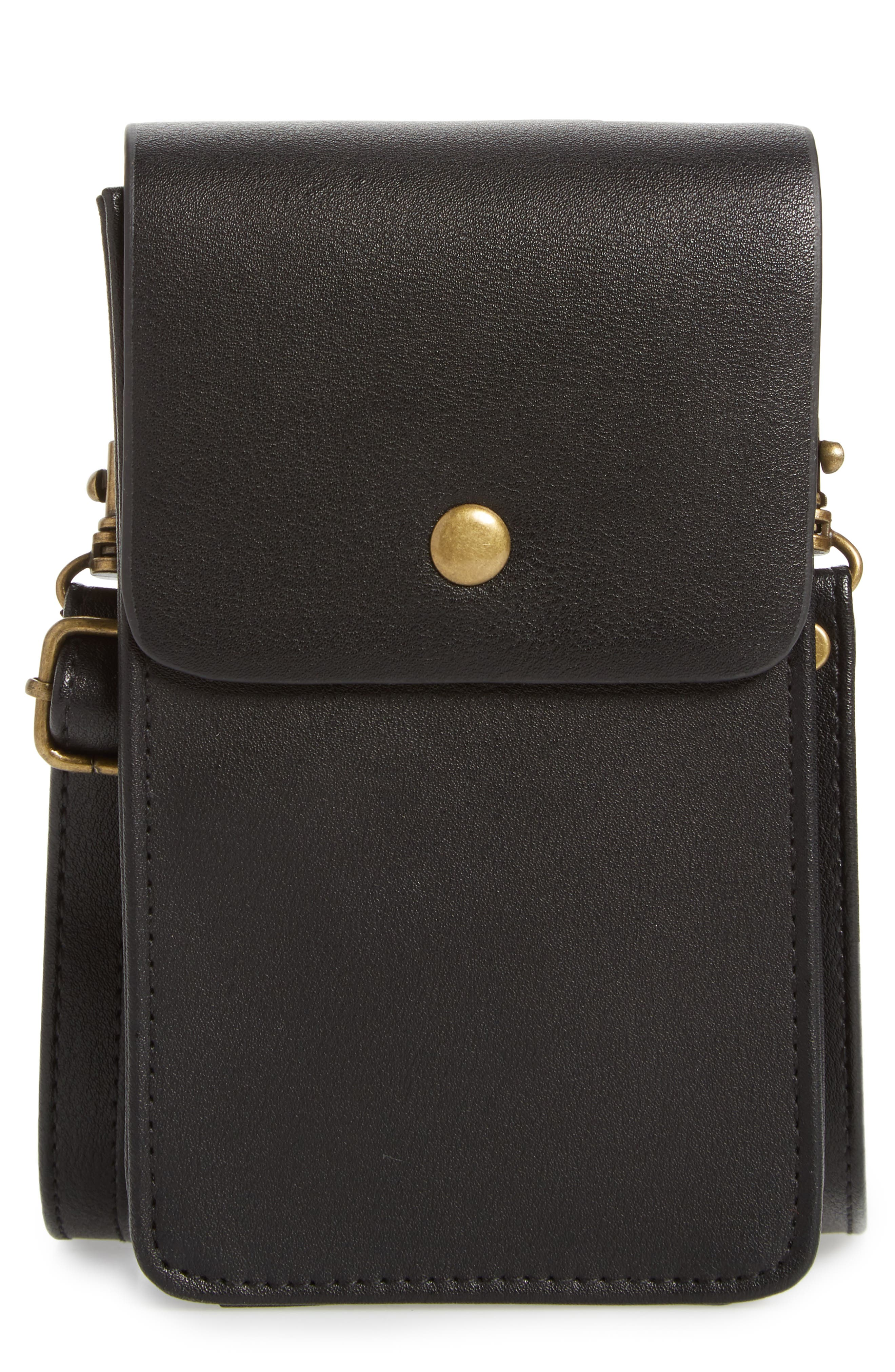 BP. Faux Leather Phone Crossbody Bag