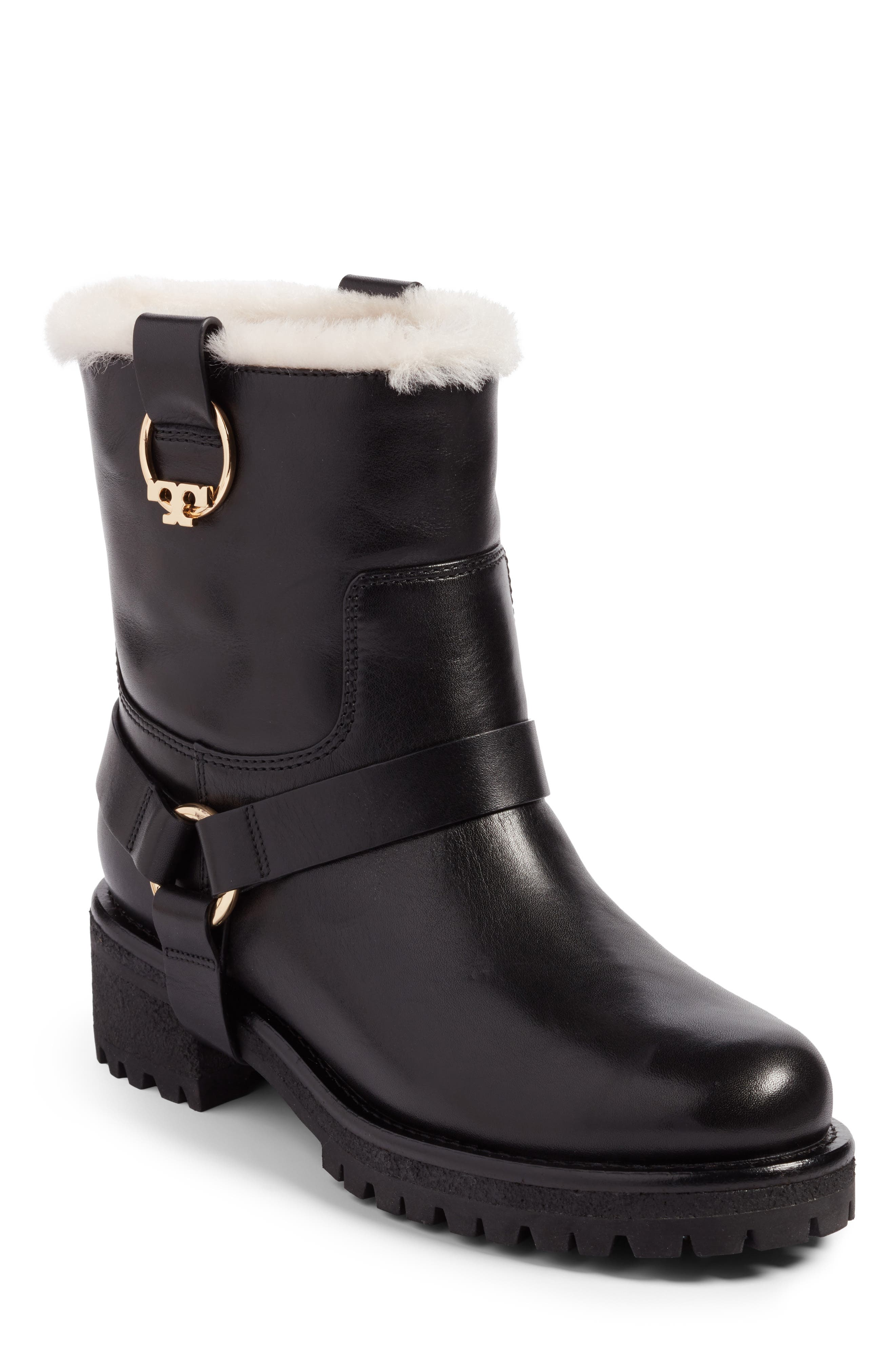 Tory Burch Henry Genuine Shearling & Leather Bootie (Women)