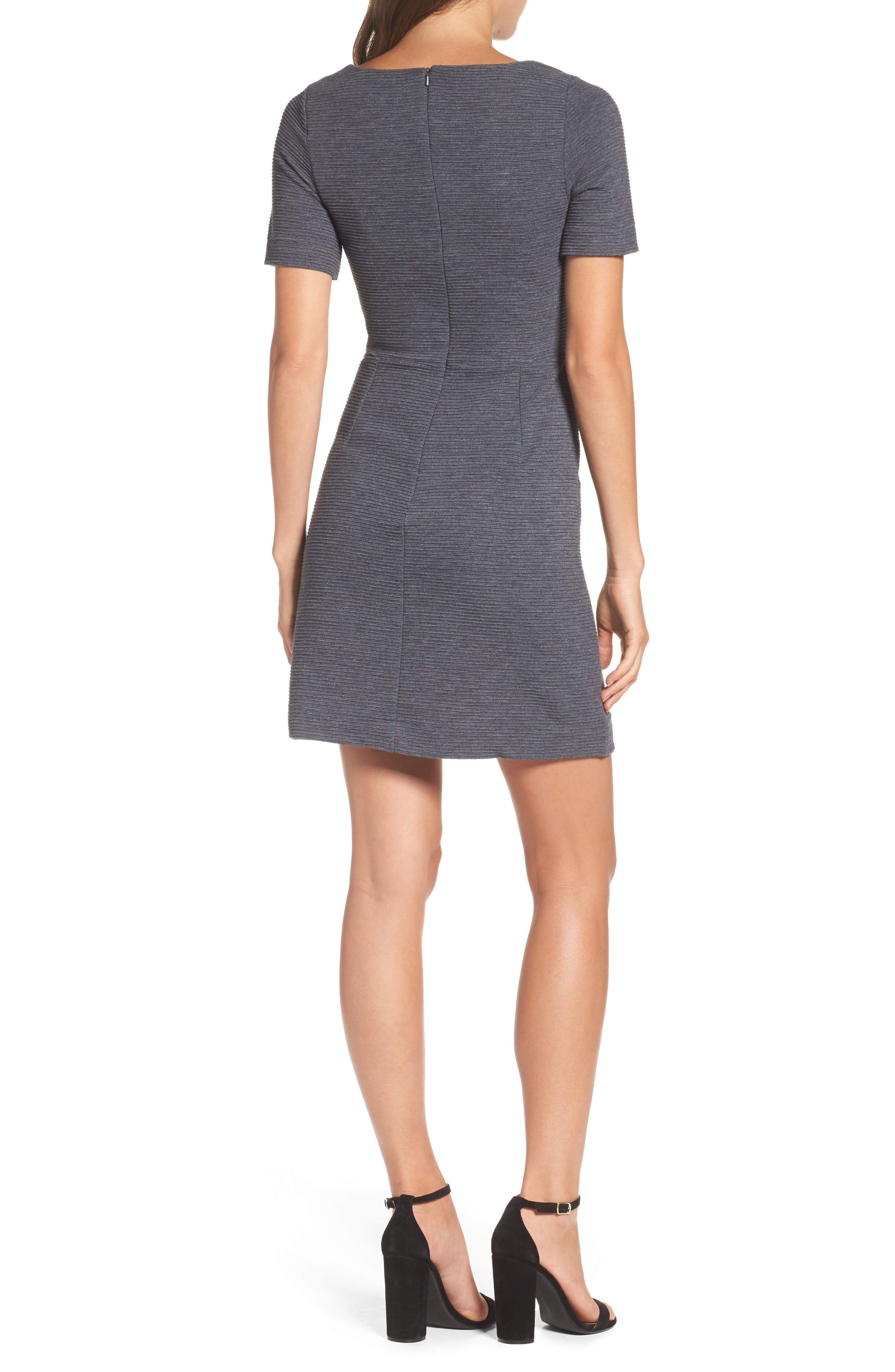 Sudan Fit & Flare Dress,                             Alternate thumbnail 2, color,                             Dark Grey