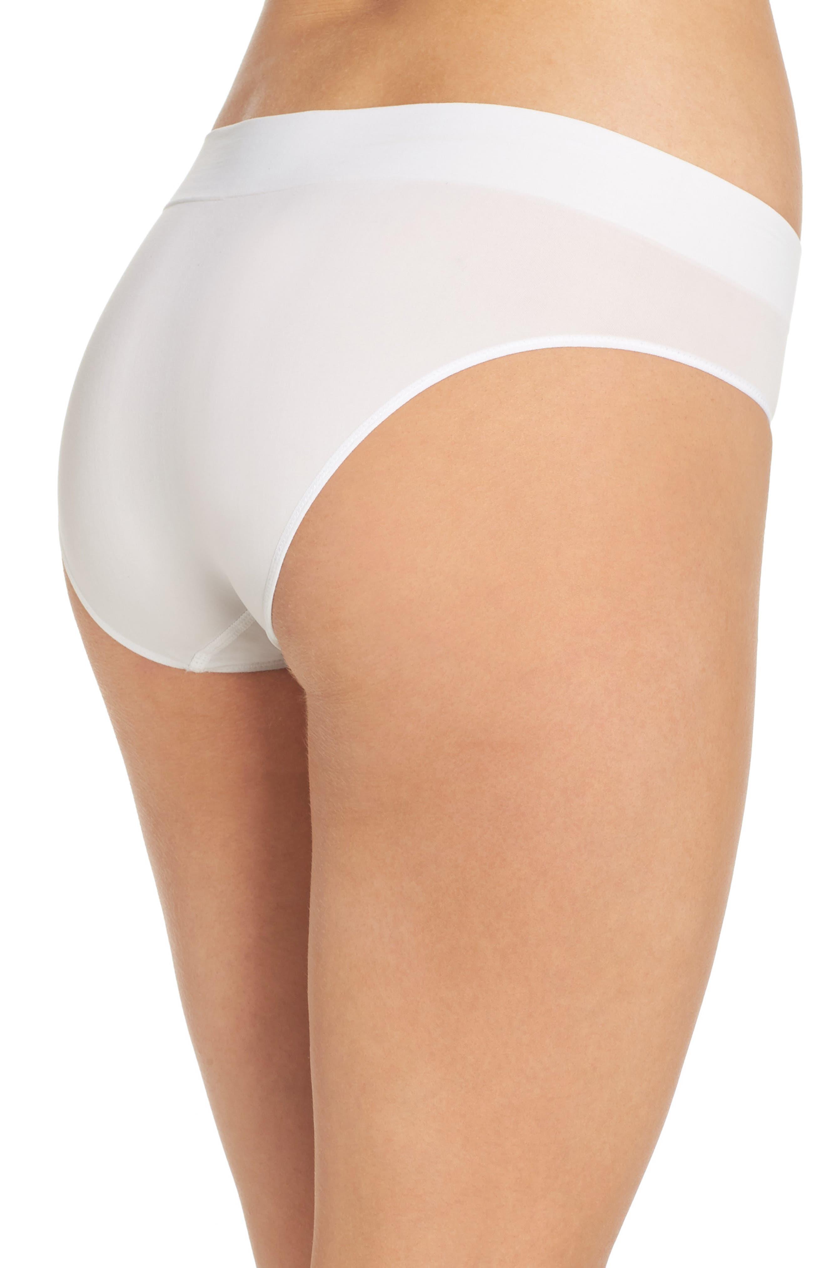 Alternate Image 2  - DKNY LiteWear Seamless Bikini (3 for $33)