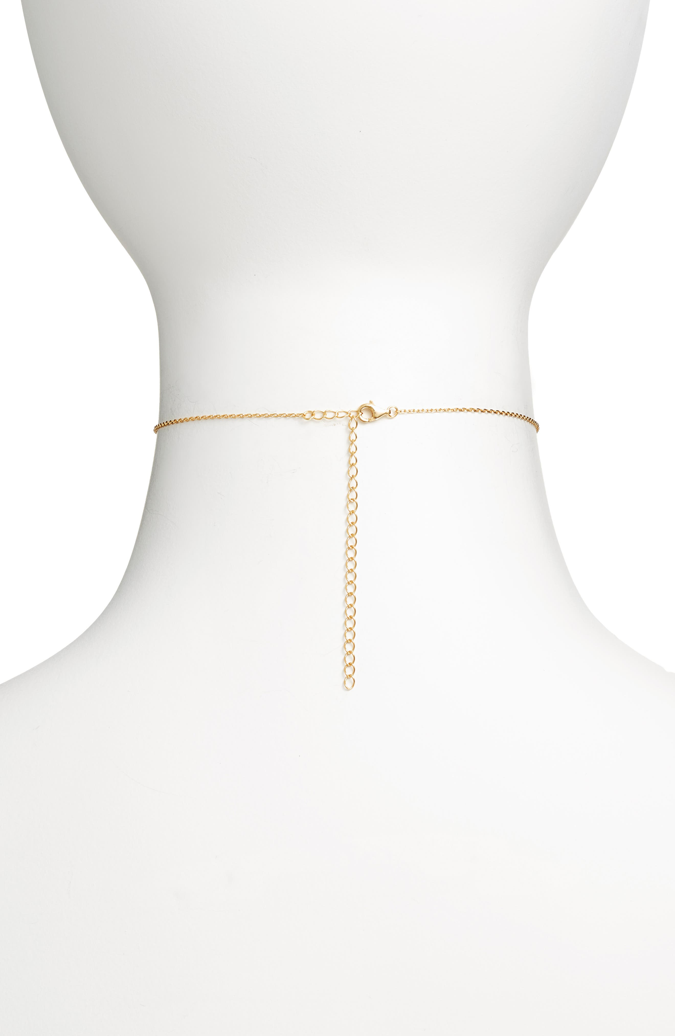 Link Choker Necklace,                             Alternate thumbnail 2, color,                             Gold