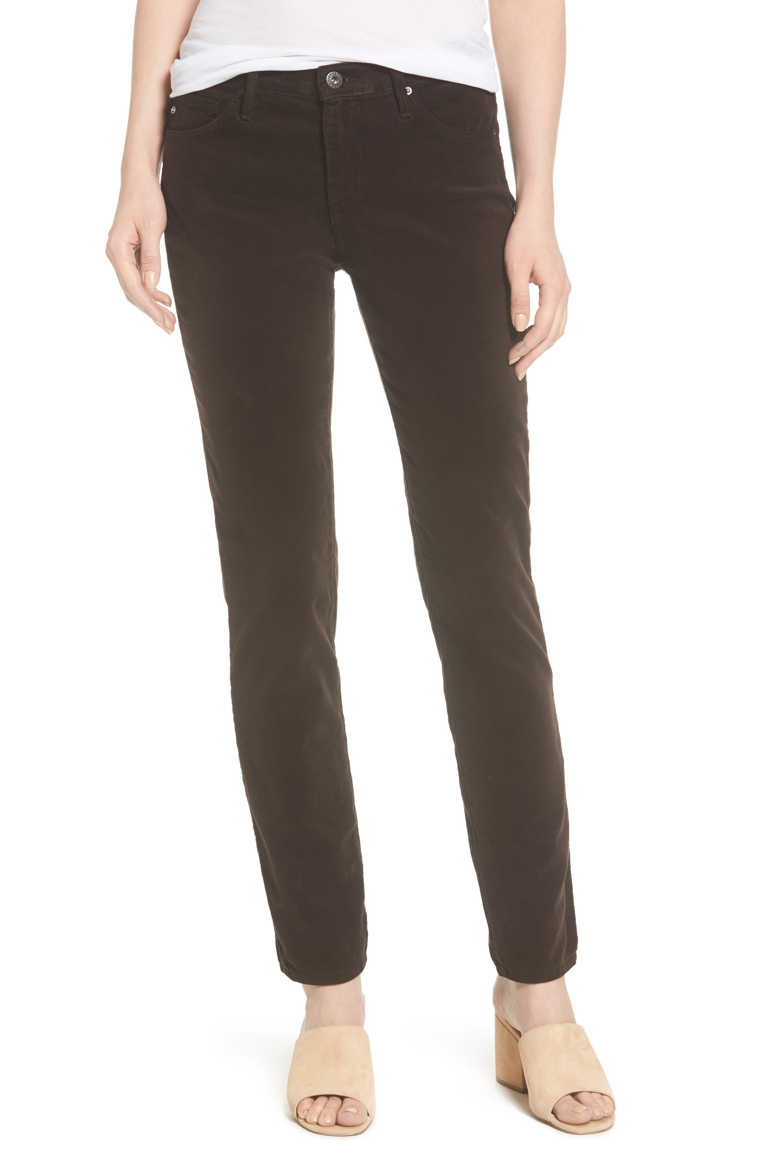 Main Image - AG 'Prima' Corduroy Skinny Pants