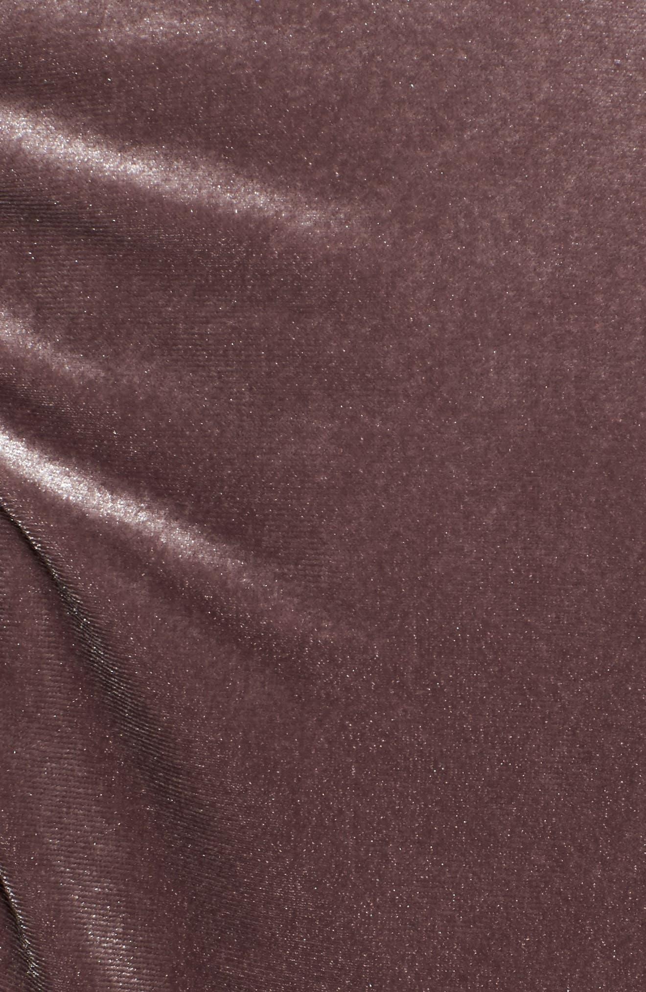 Ruched Velvet Bomber,                             Alternate thumbnail 5, color,                             Lilac