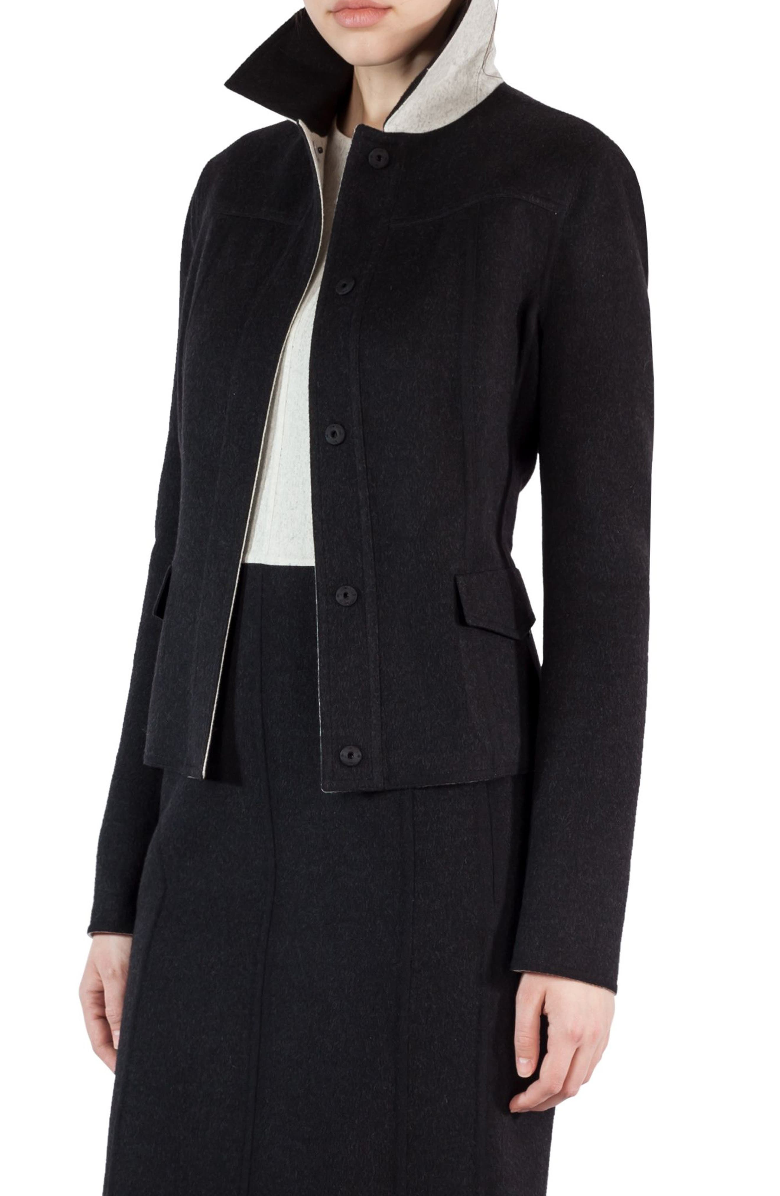 Alternate Image 1 Selected - Akris Double Face Wool Reversible Bicolor Jacket