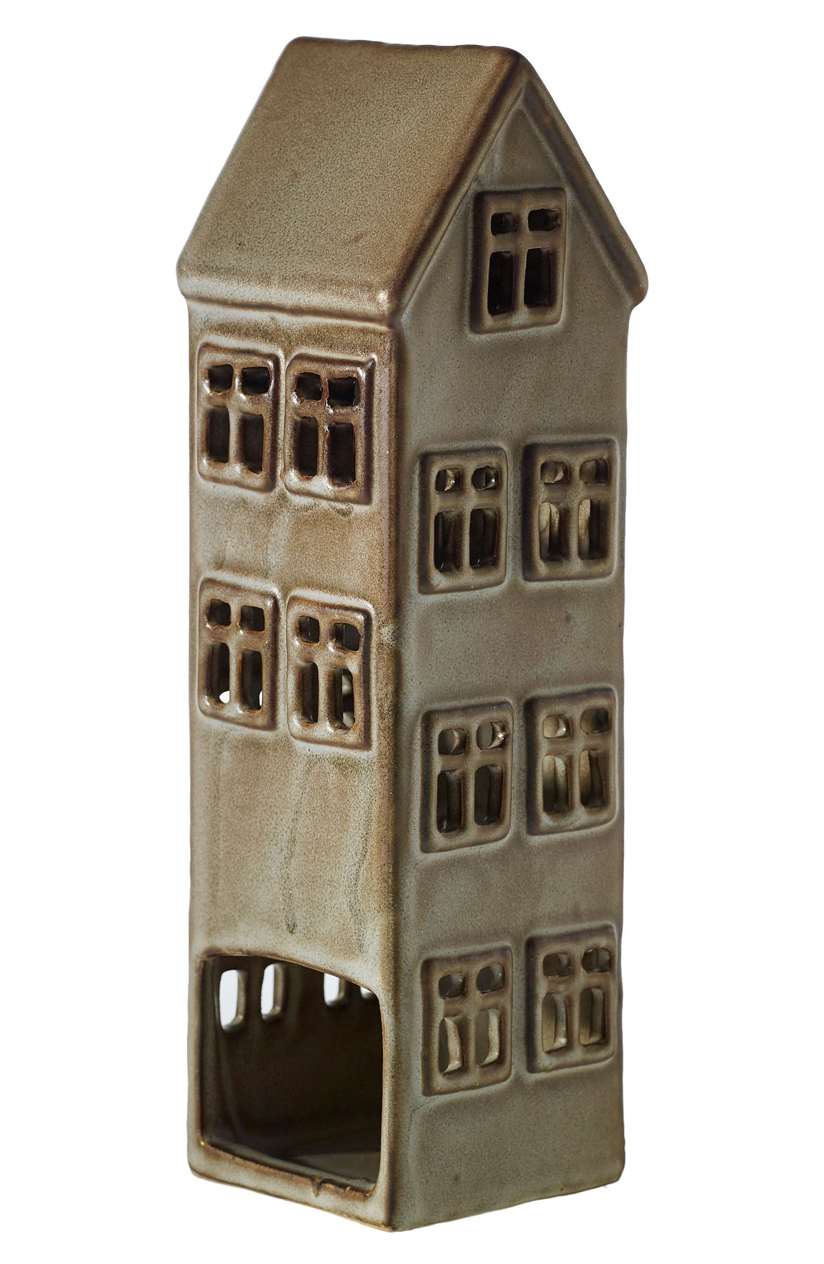 Townshend House Ceramic Candle Holder,                         Main,                         color, Brown
