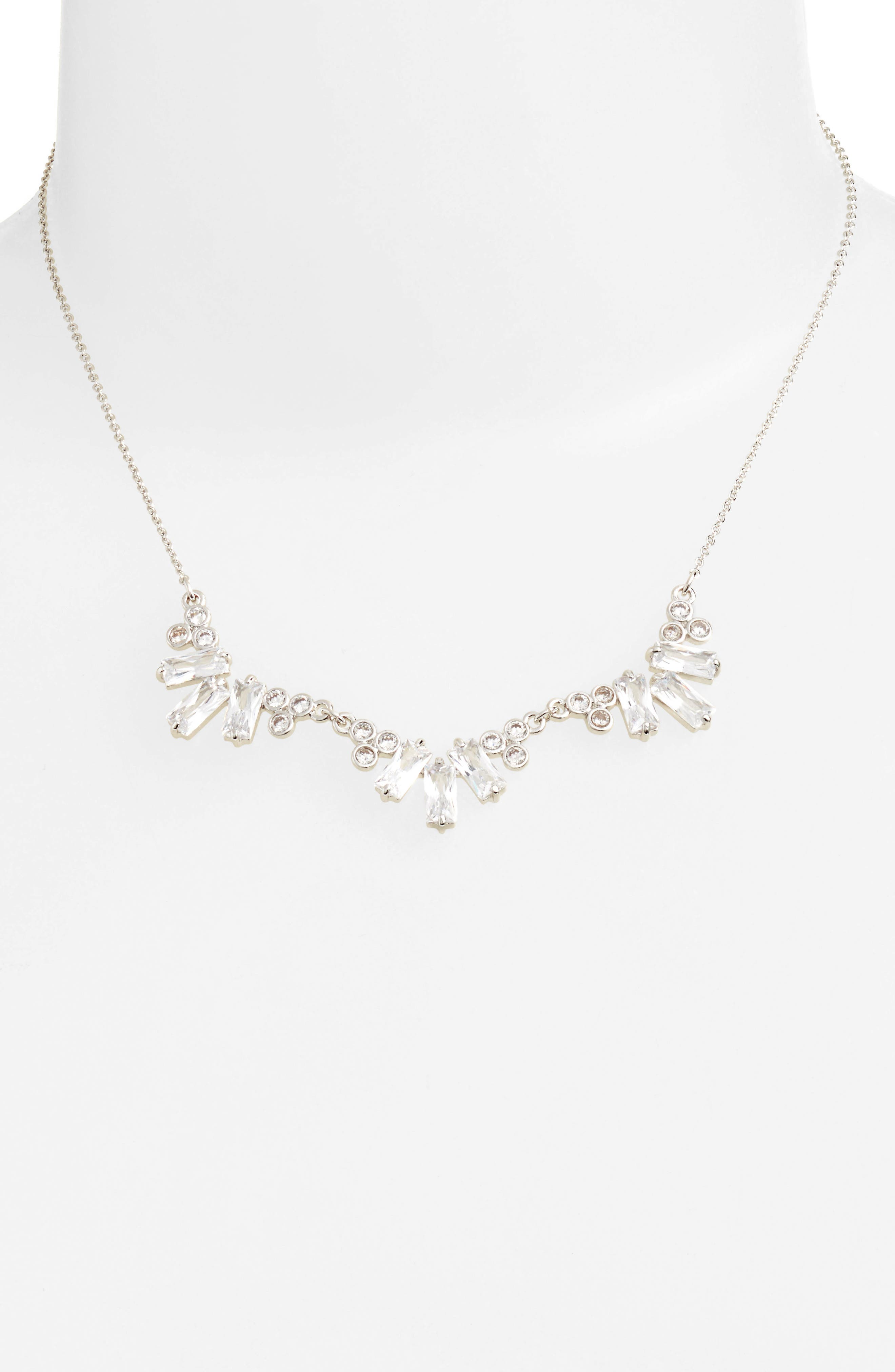 Alternate Image 1 Selected - CZ by Kenneth Jay Lane Frontal Necklace