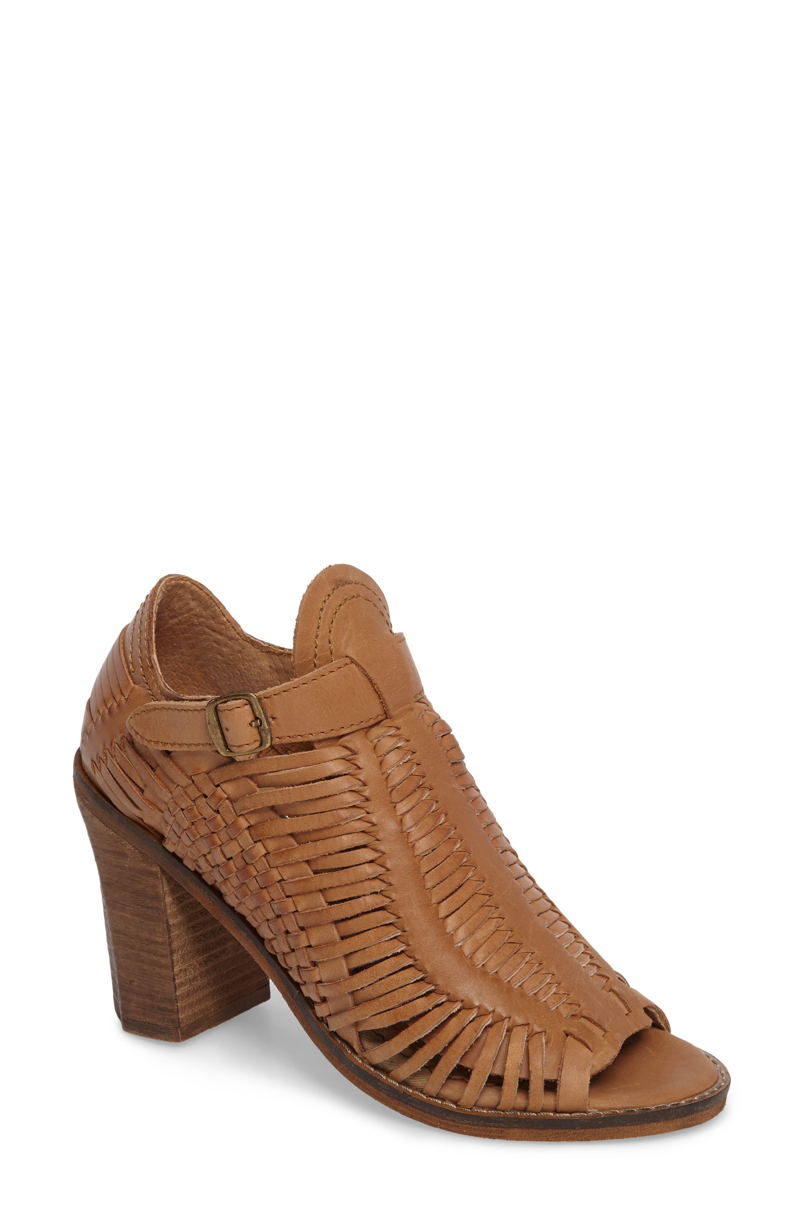 Killion Open Toe Bootie,                         Main,                         color, Tan Leather