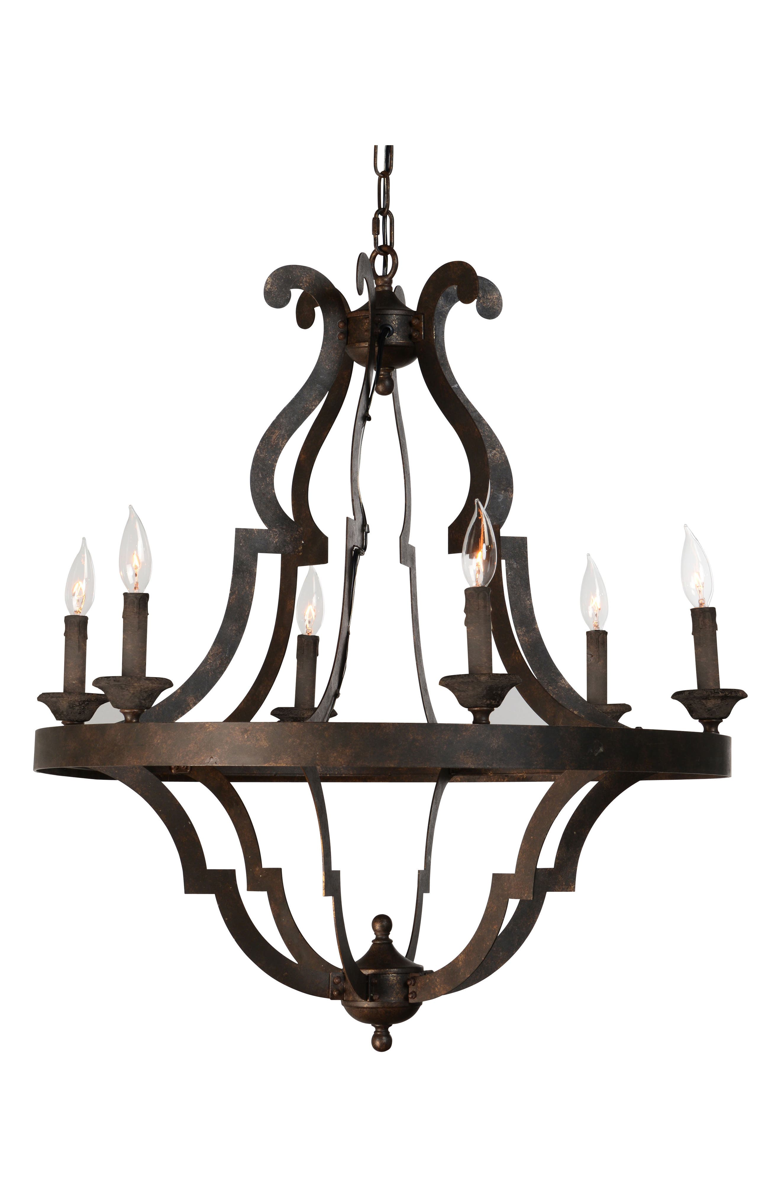 Small Gatsby Chandelier,                             Main thumbnail 1, color,                             Antique Gold