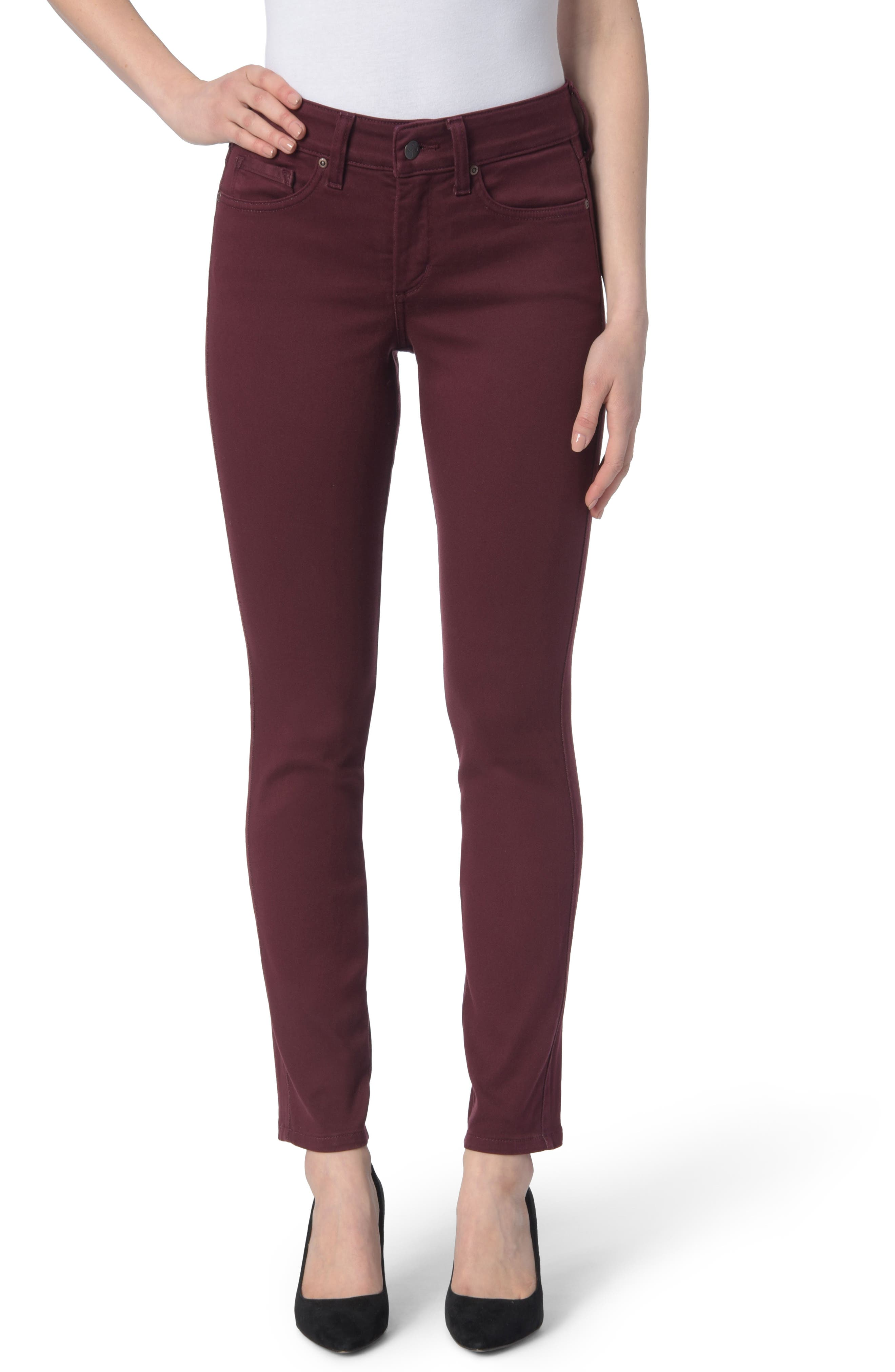 AMI COLORED STRETCH SKINNY JEANS