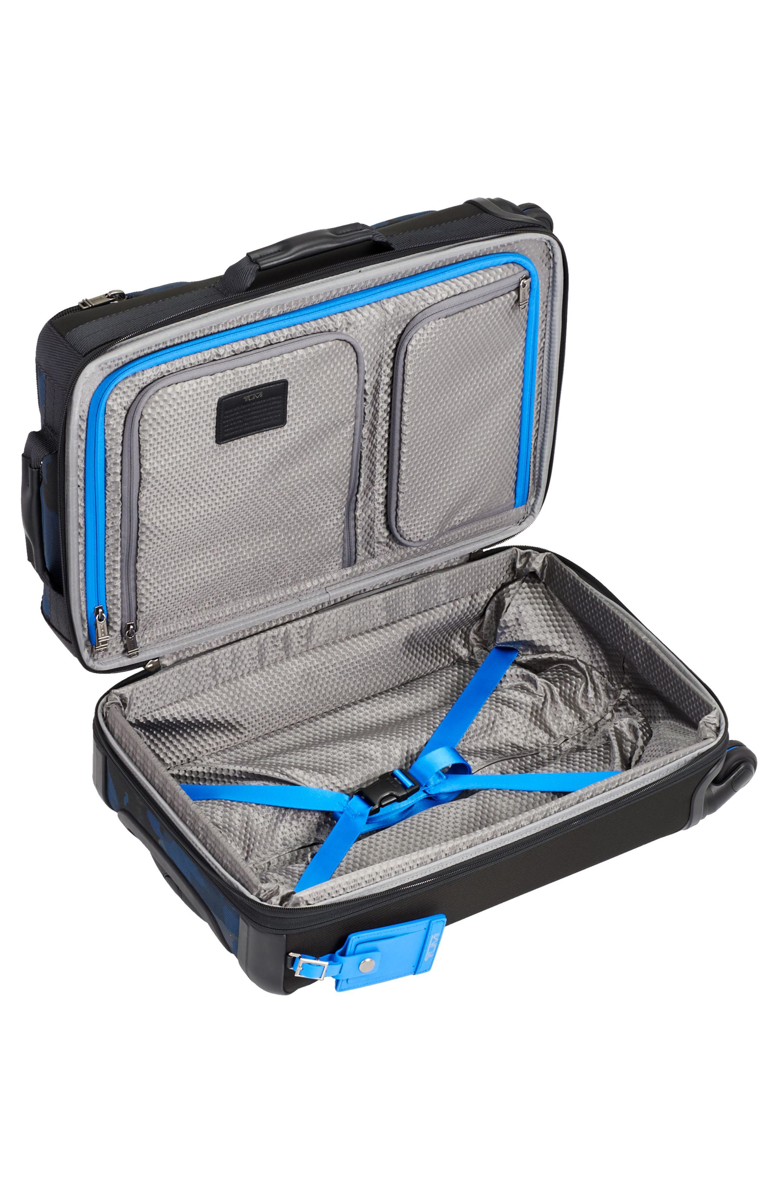 Alpha Bravo Kirtland 22 Inch Expandable Continental Wheeled Carry-On,                             Alternate thumbnail 3, color,                             Blue Camo