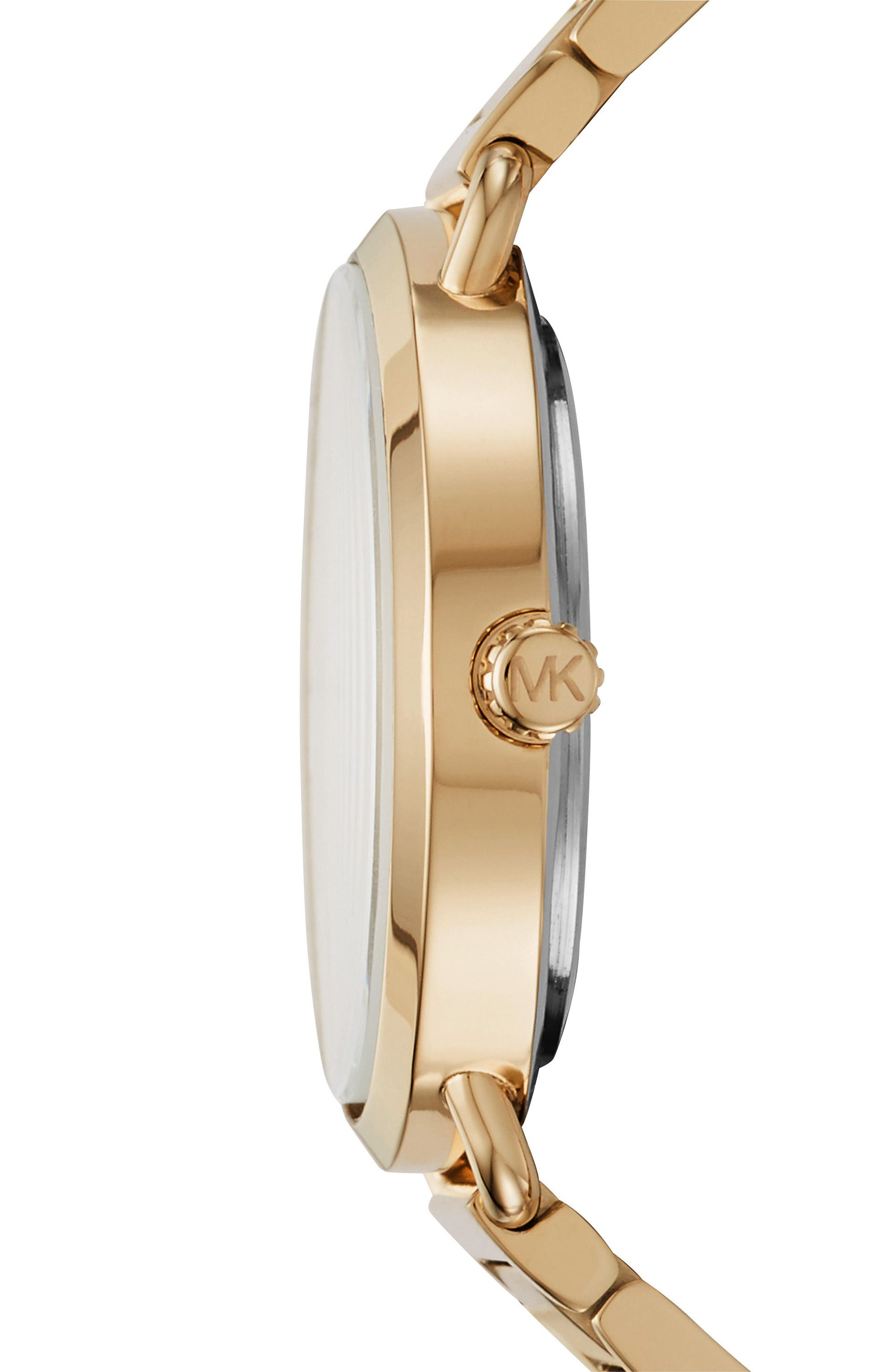 Portia Round Bracelet Watch, 36.5mm,                             Alternate thumbnail 2, color,                             Gold