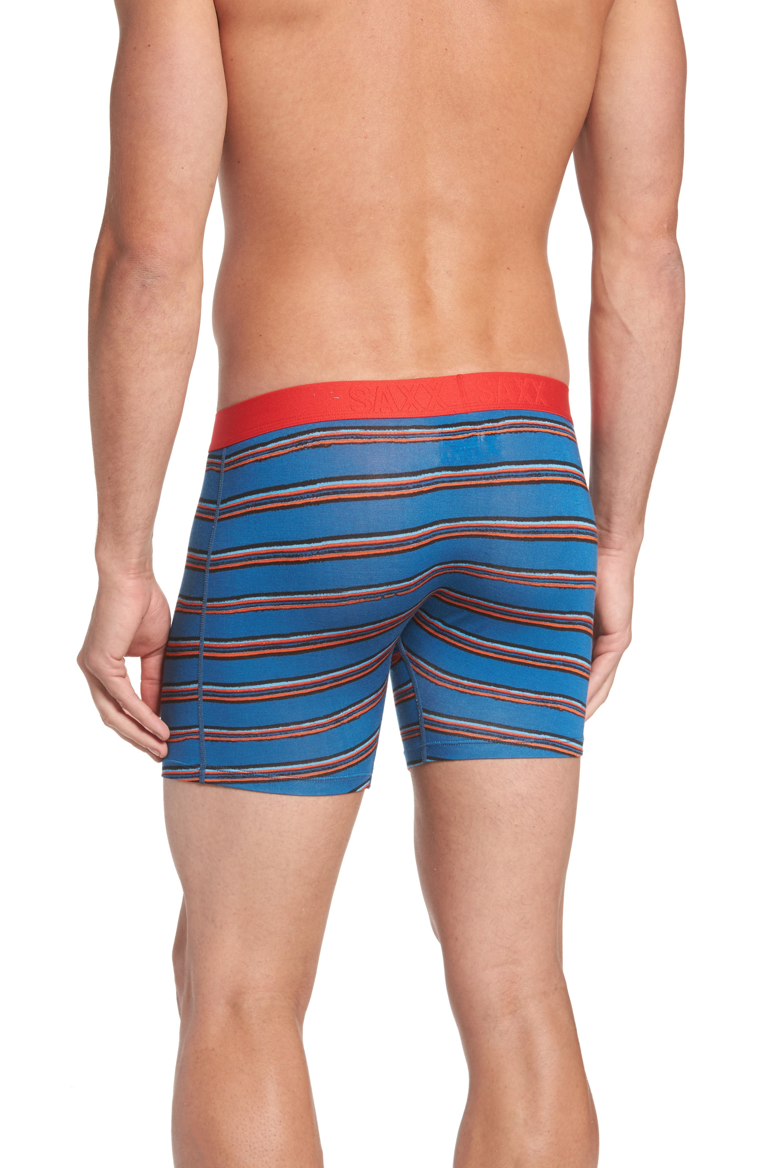 Alternate Image 2  - SAXX Vibe Modern Fit Striped Boxer Briefs