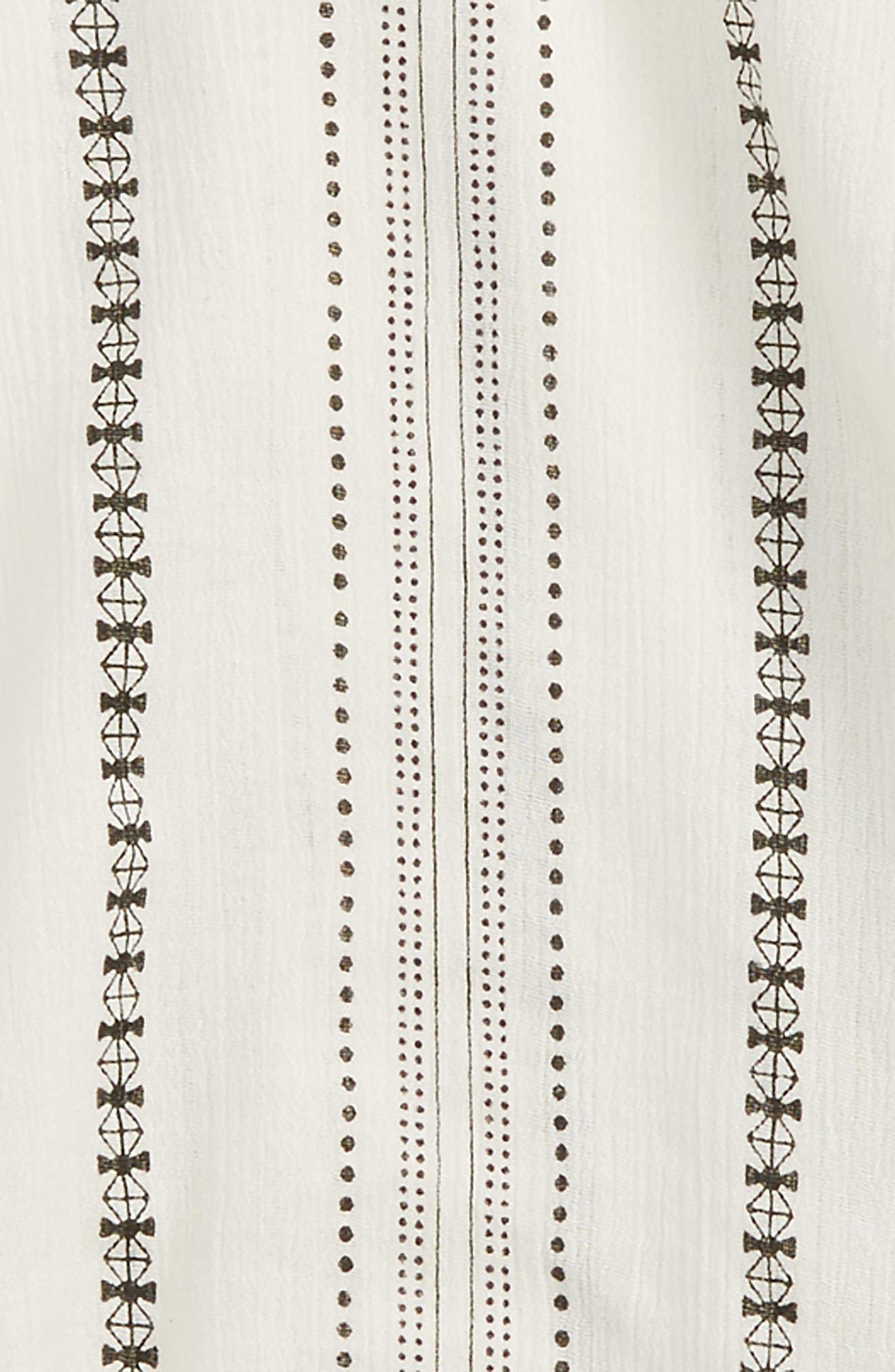 Cold Shoulder Top,                             Alternate thumbnail 2, color,                             Ivory Egret Pattern Stripe
