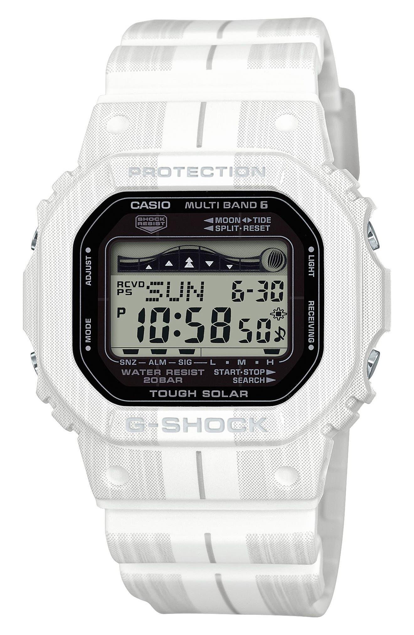 G-SHOCK BABY-G G-Shock Digital Solar Tide Graphic Watch, 42mm