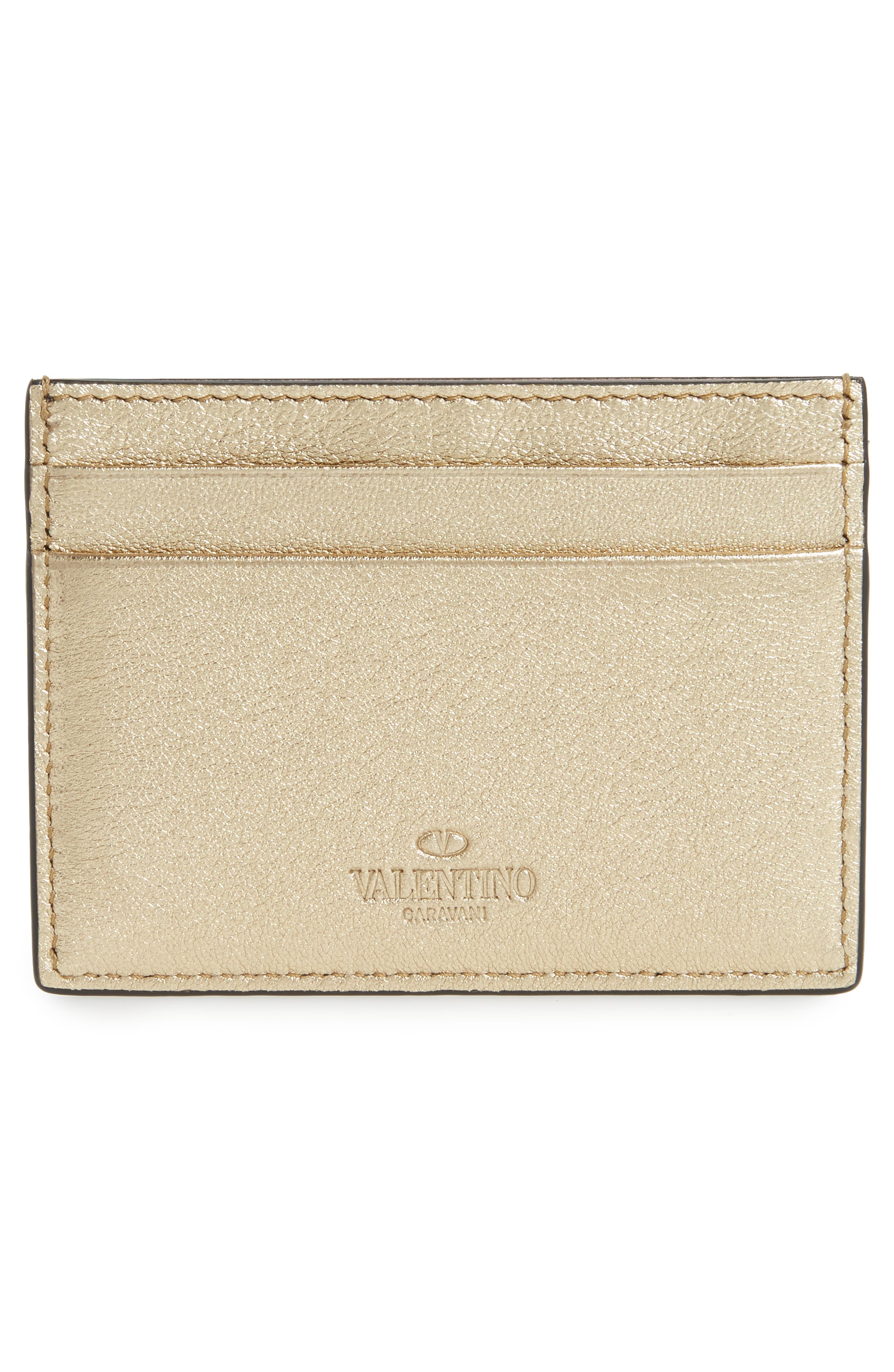 Alternate Image 2  - VALENTINO GARAVANI Rockstud Leather Card Case