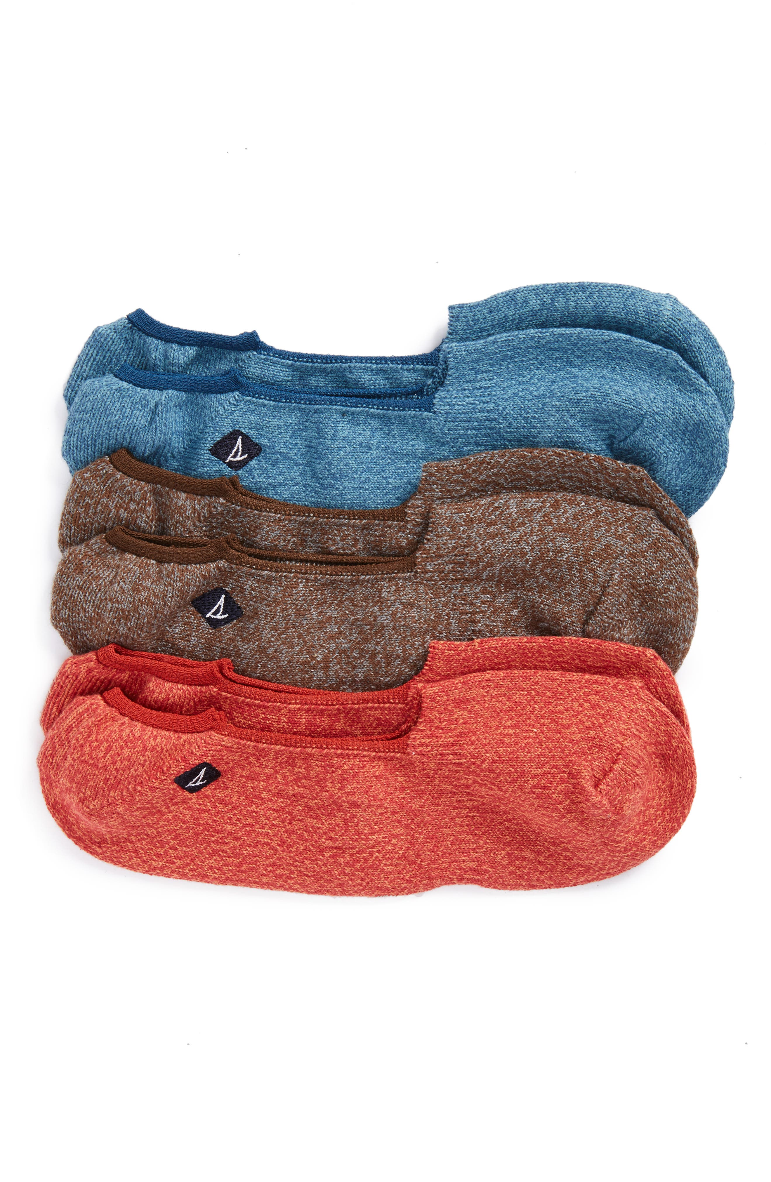 Alternate Image 1 Selected - Sperry 3-Pack Solid Liner Socks