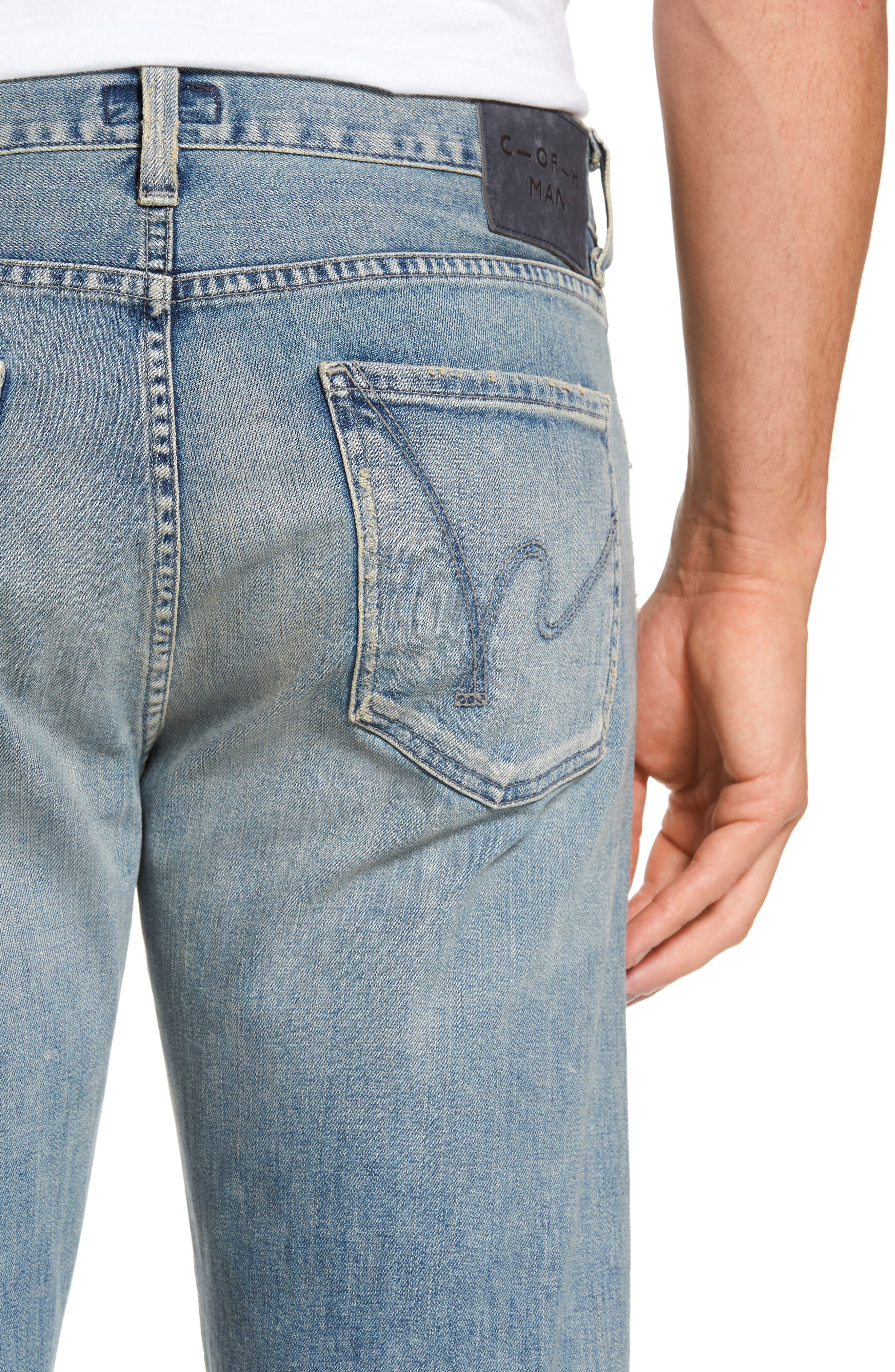 Sid Straight Leg Jeans,                             Alternate thumbnail 4, color,                             Anchor