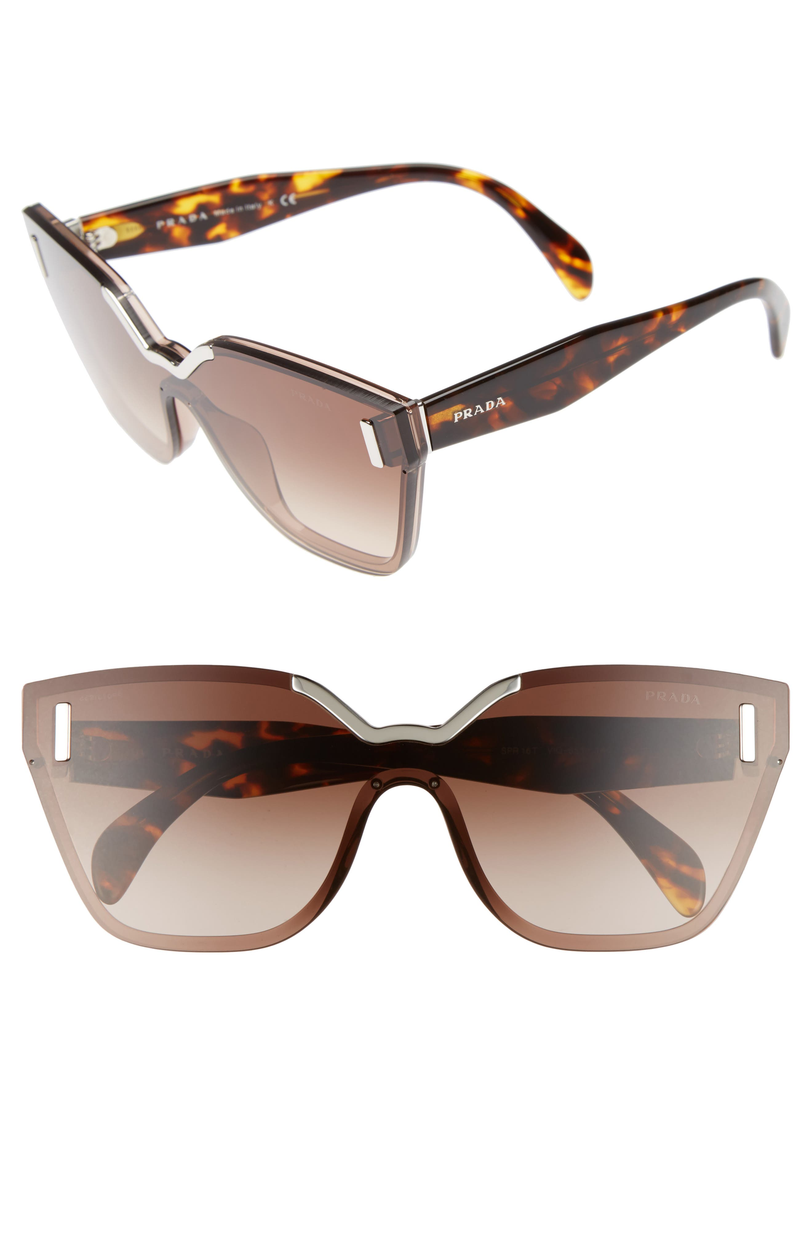Main Image - Prada Gradient Shield Sunglasses