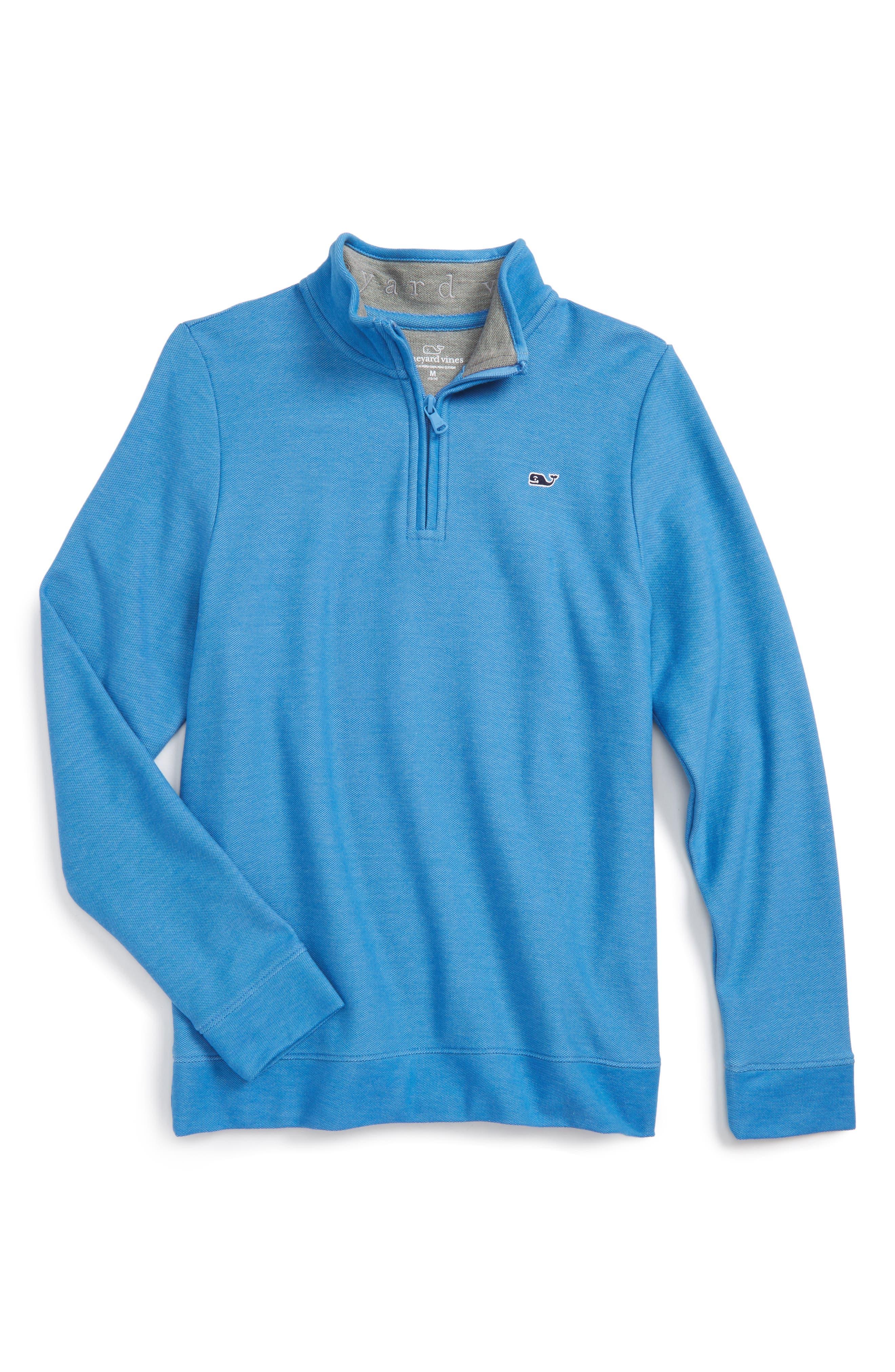 Quarter Zip Sweater,                         Main,                         color, Hull Blue