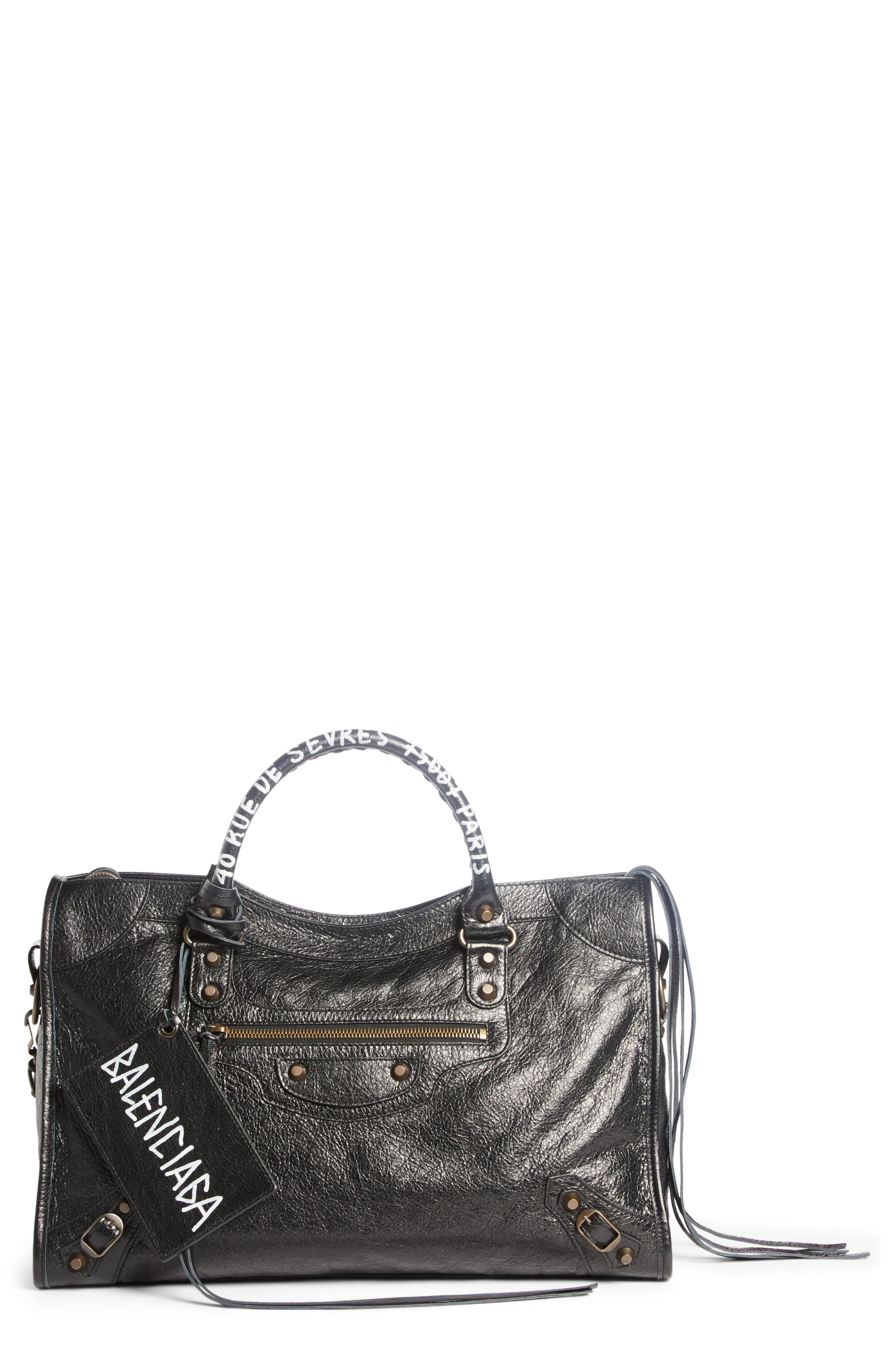 Balenciaga  CLASSIC CITY LEATHER TOTE - BLACK