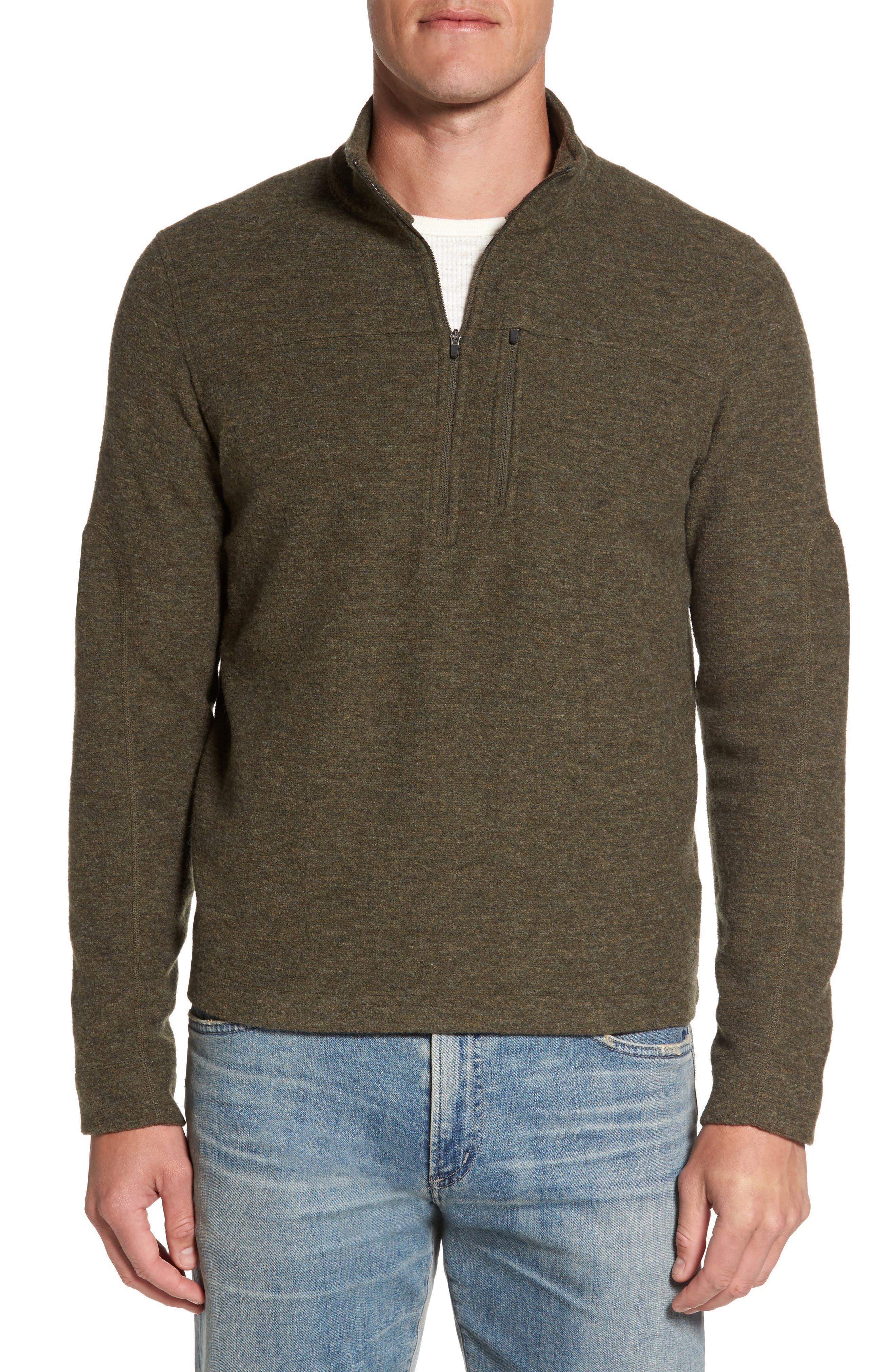 Main Image - ibex Scout Jura Merino Wool Blend Quarter Zip Pullover