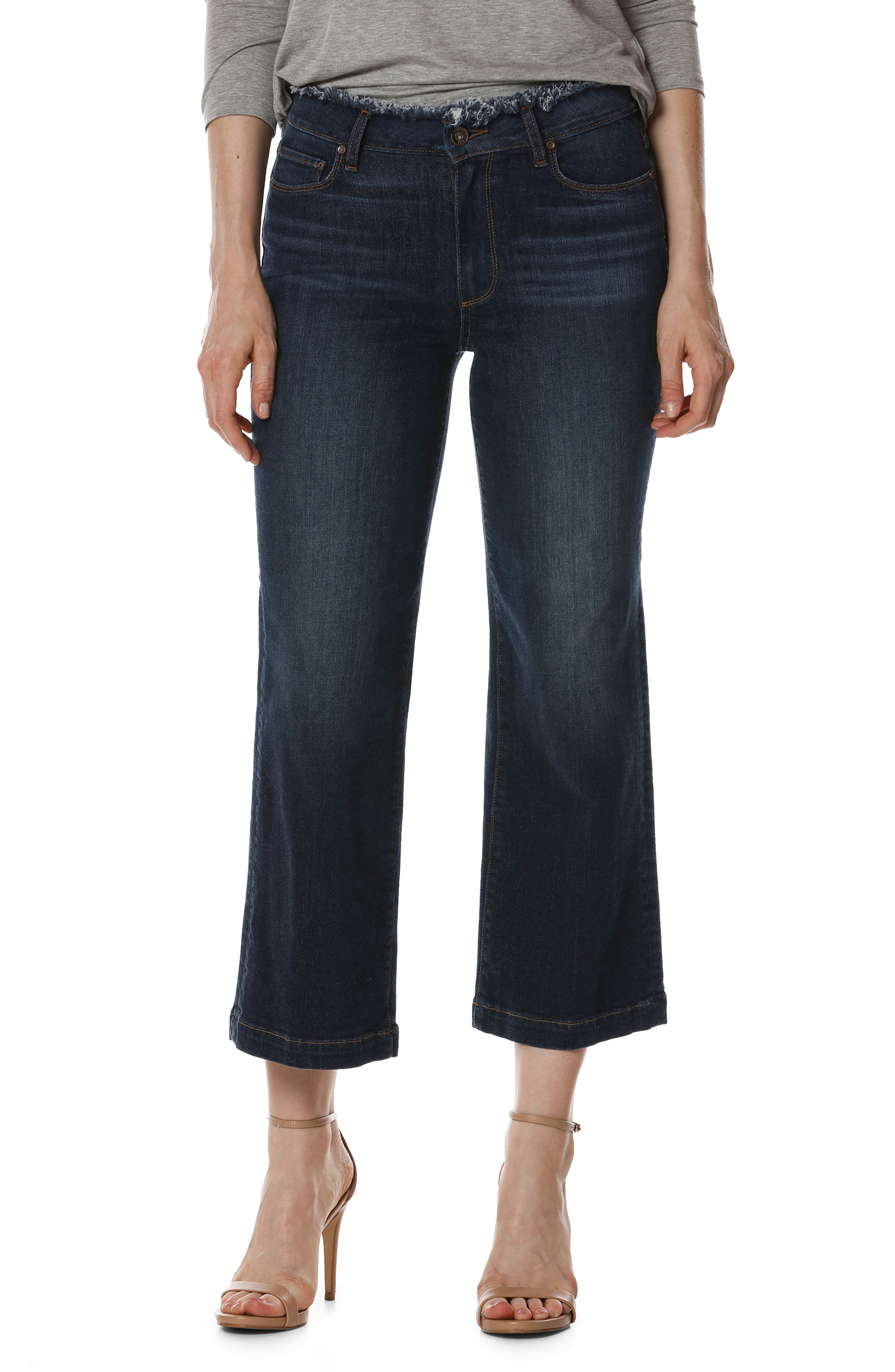PAIGE Lori Crop Wide Leg Jeans (Brookdale)