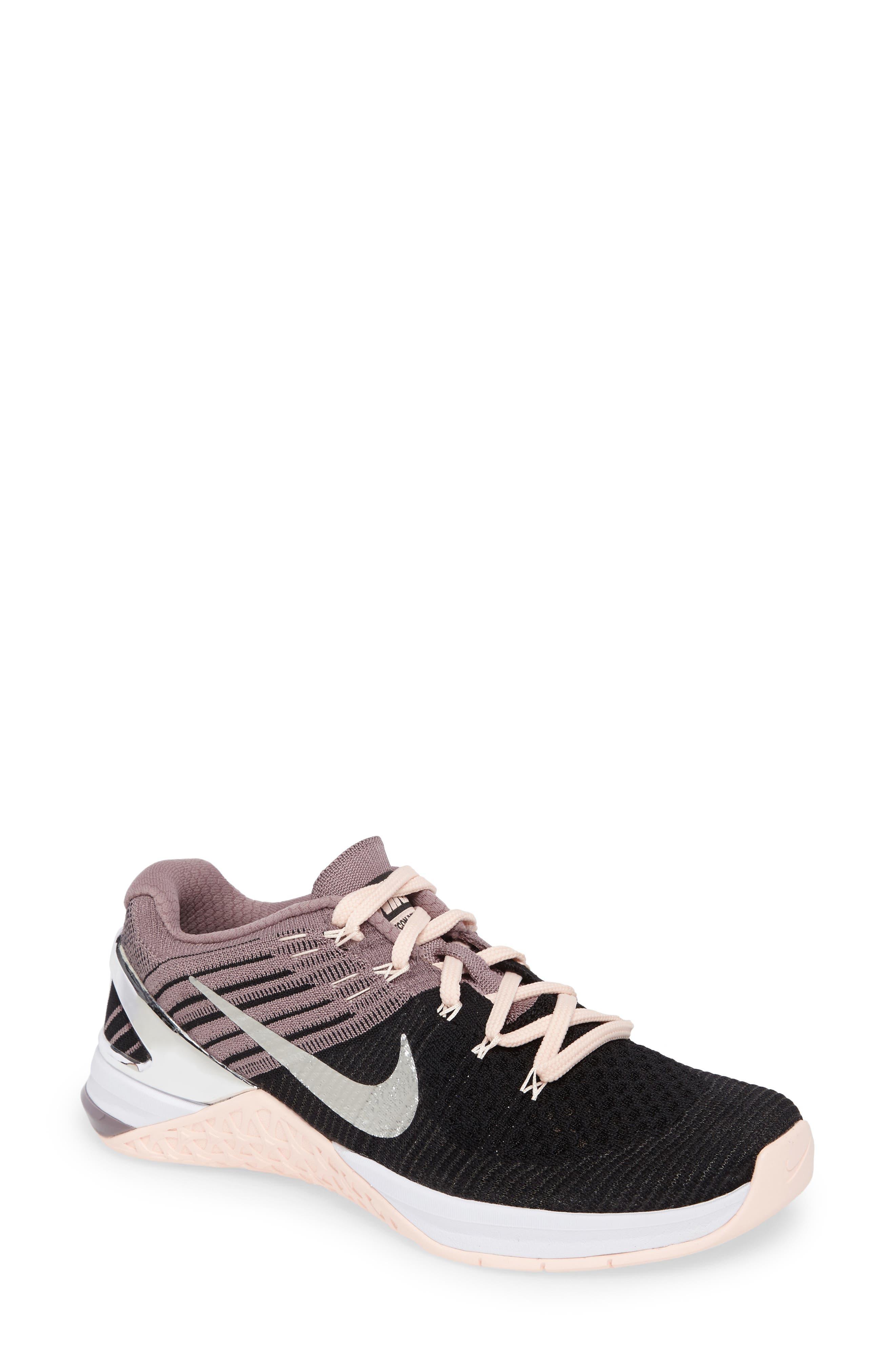 Main Image - Nike Metcon DSX Flyknit Chrome Blush Training Shoe (Women)