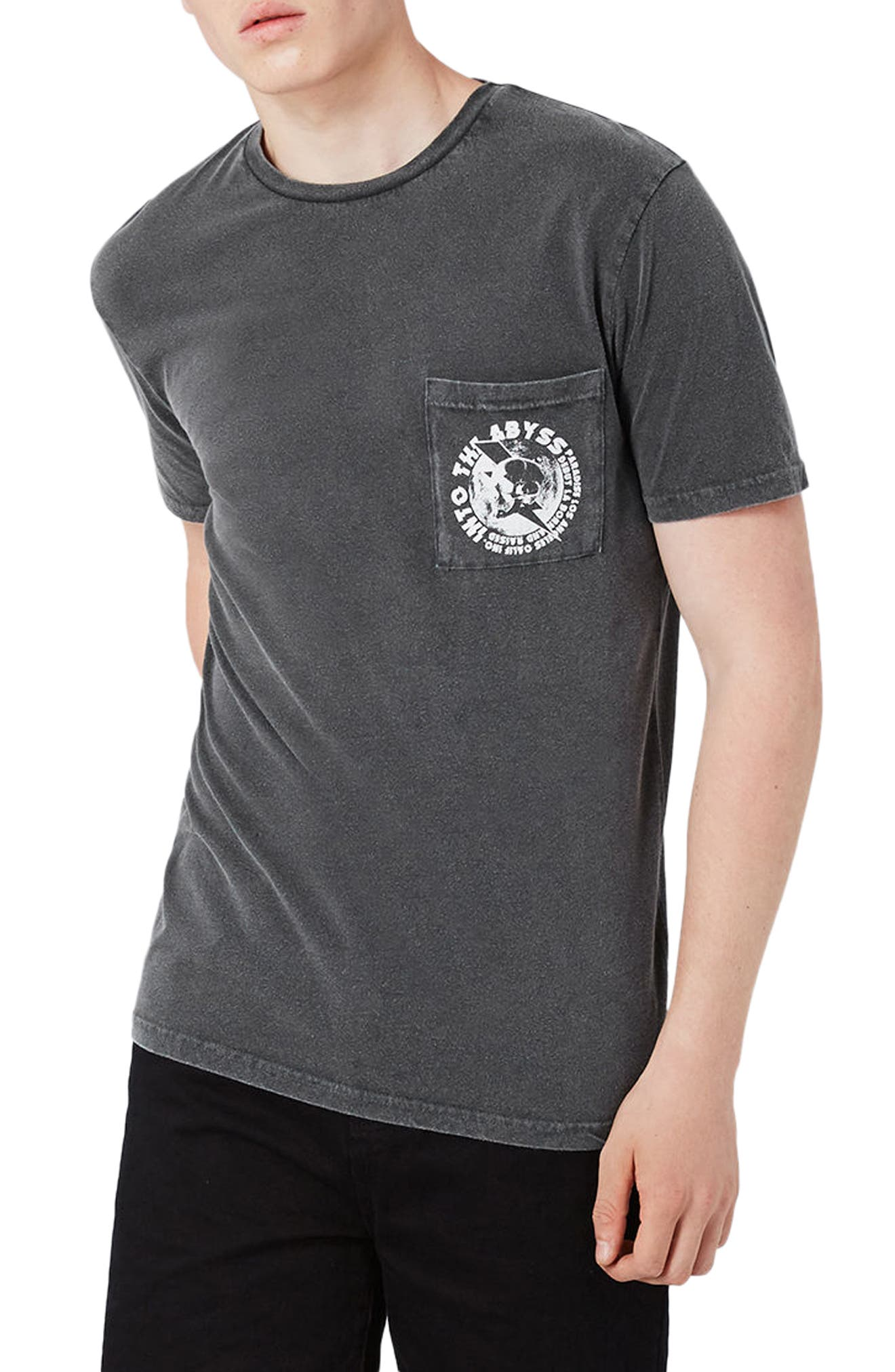 Topman Washed Abyss Pocket T-Shirt