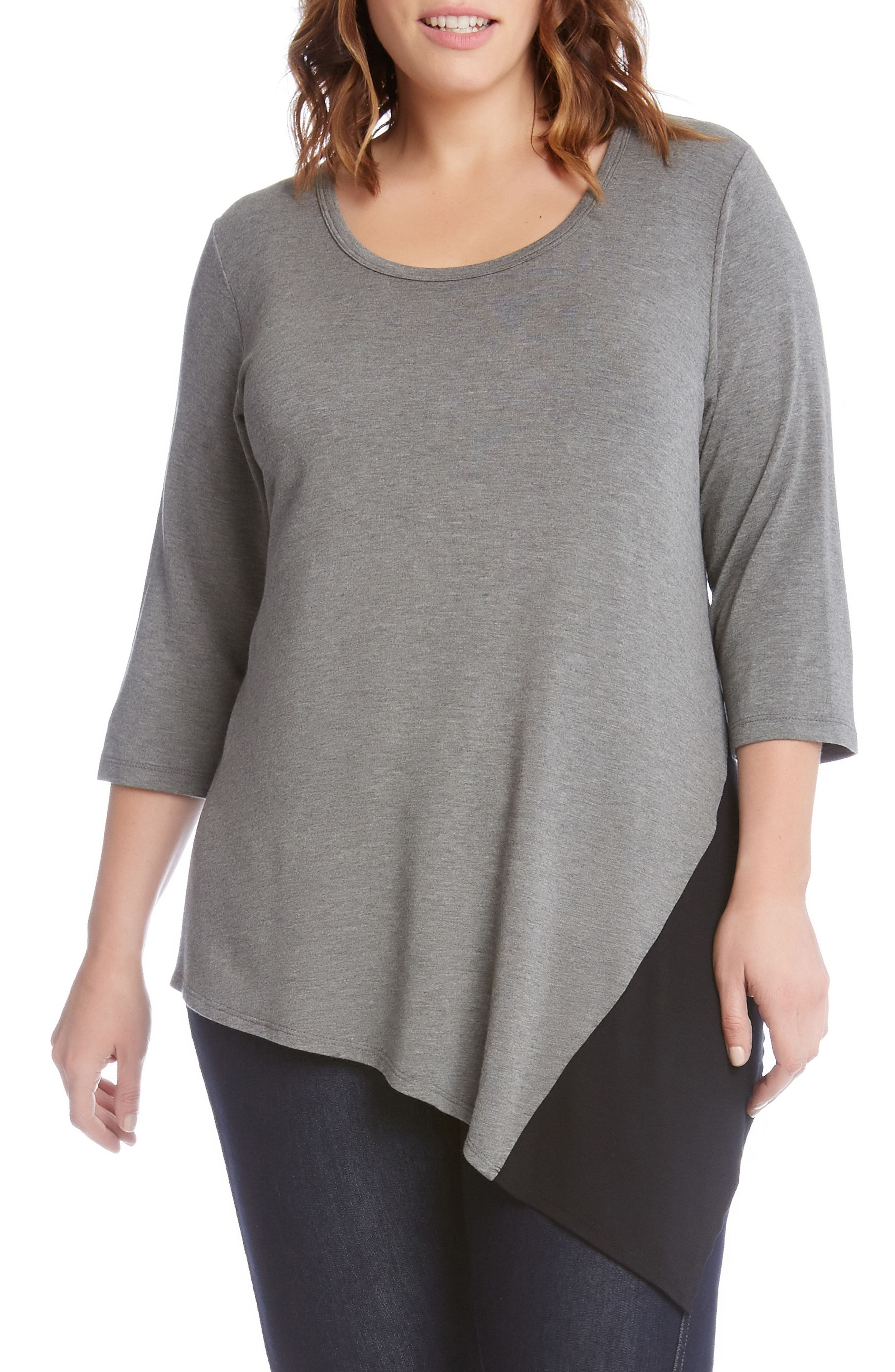 Colorblock Angle Top,                         Main,                         color, Grey With Black