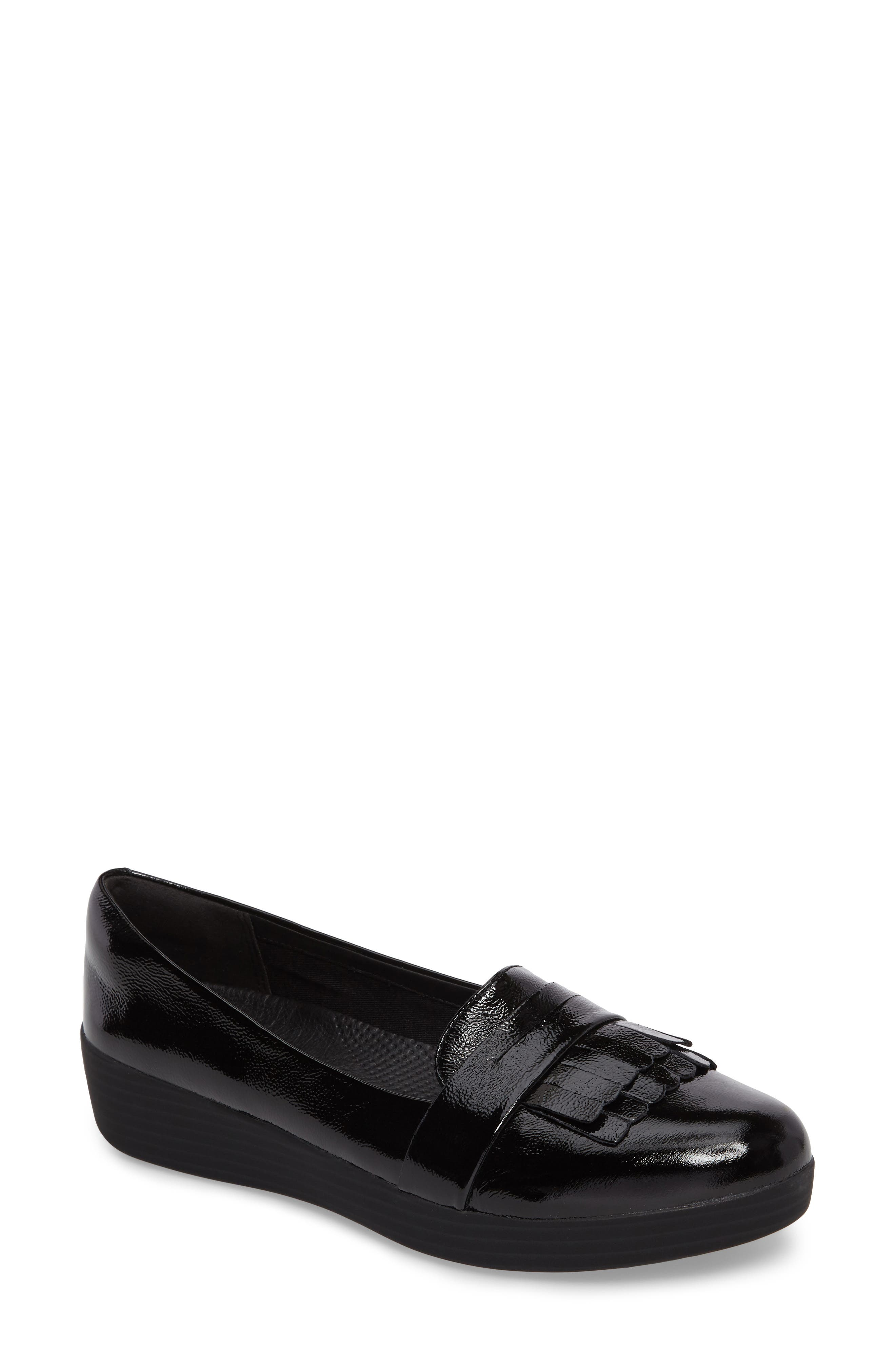 Alternate Image 1 Selected - FitFlop™ Fringey Sneakerloafer Slip-On (Women)