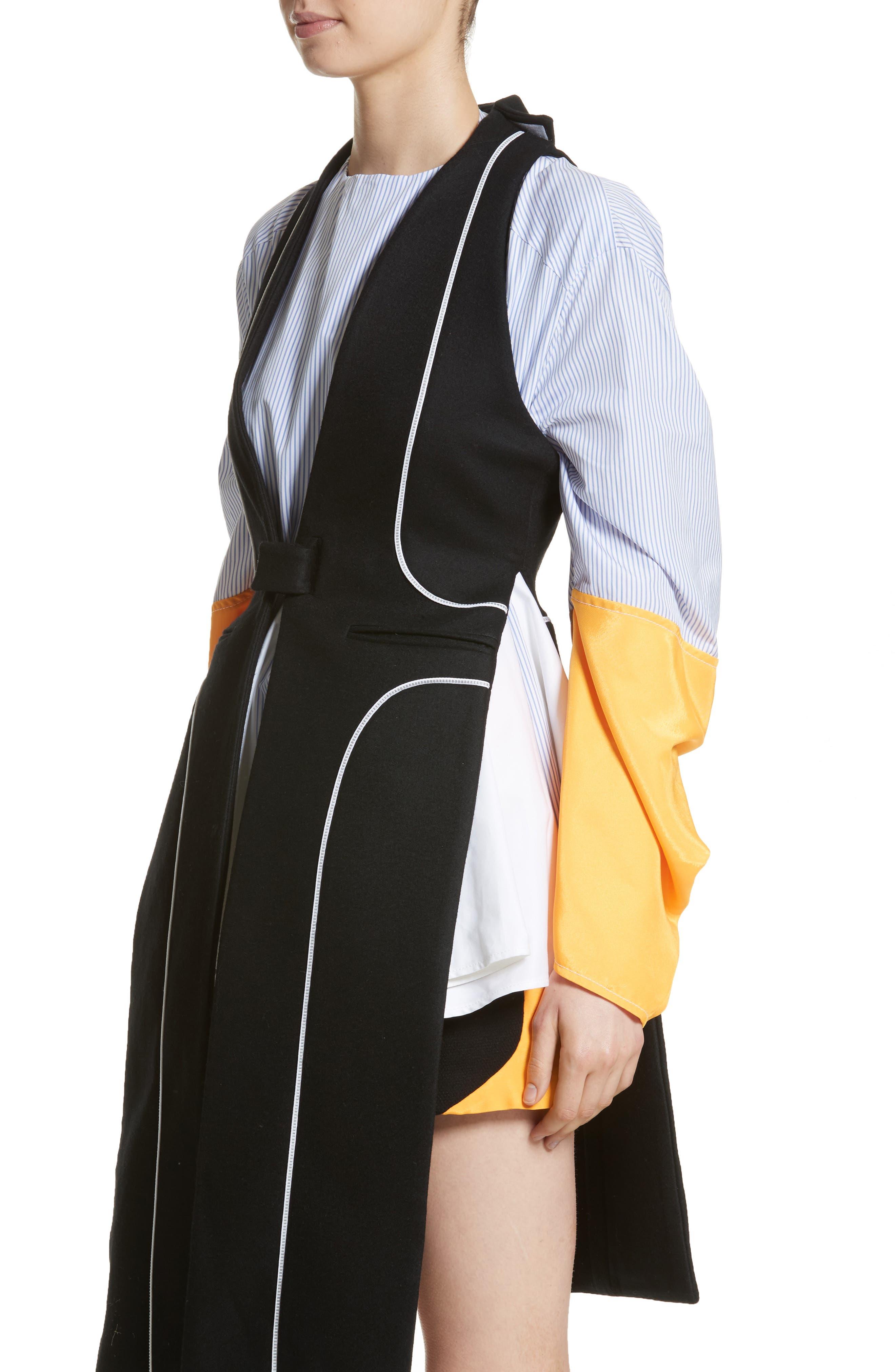 Wool Vest,                             Alternate thumbnail 4, color,                             Black