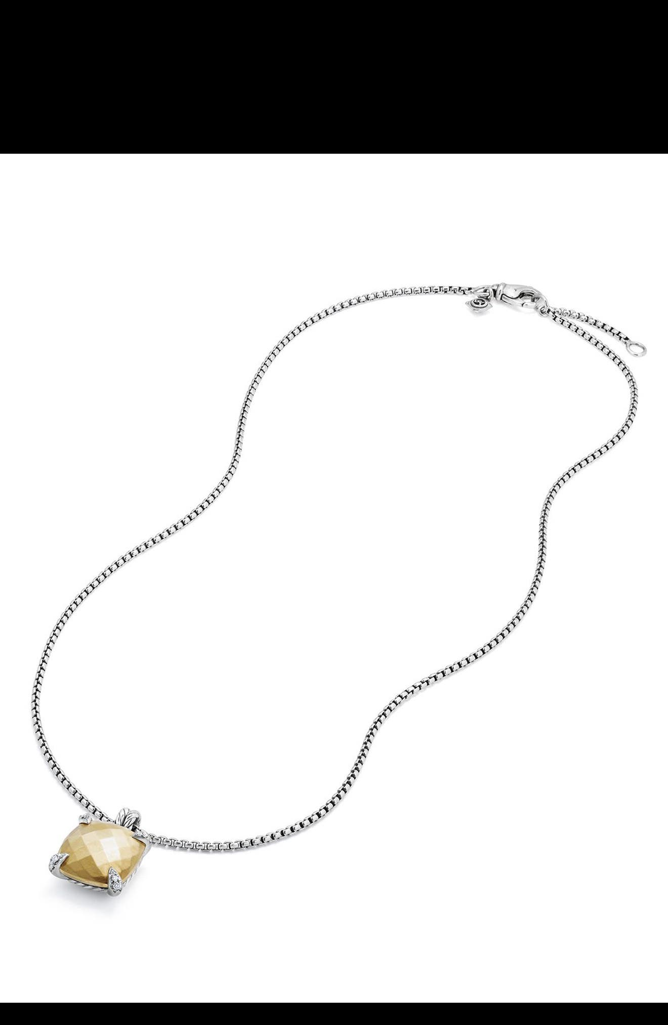 Alternate Image 3  - David Yurman Châtelaine Pendant Necklace with Diamonds